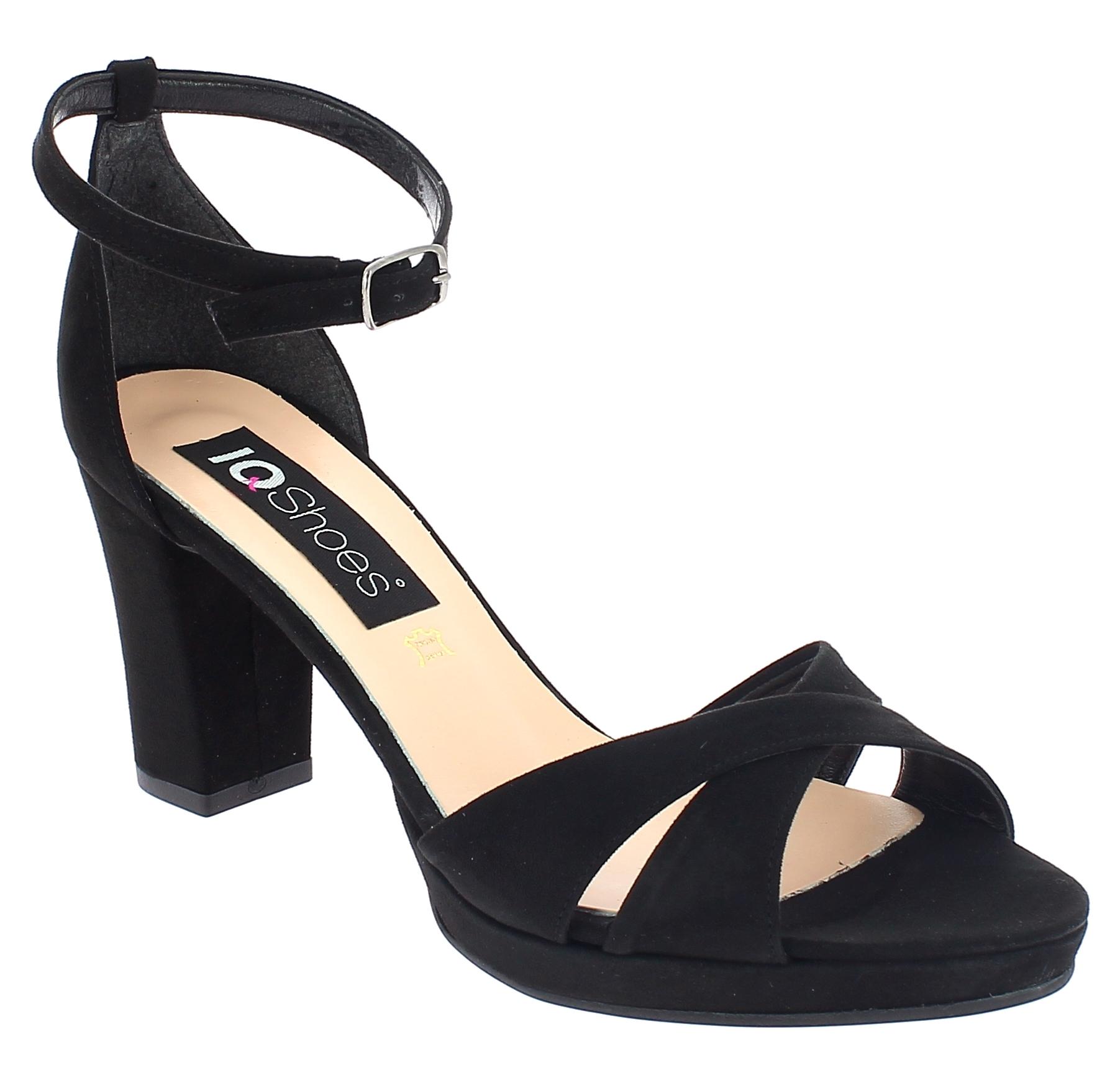 IQSHOES Γυναικείο Πέδιλο 306 Μαύρο - IqShoes - 41.306 BLACK-IQSHOES-black-39/1/1 παπούτσια  γυναικεία σανδάλια   πέδιλα