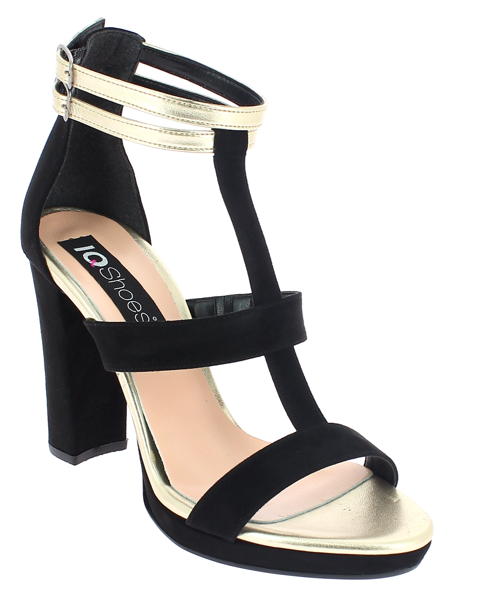 IQSHOES Γυναικείο Πέδιλο 1090 Μαύρο - IqShoes - 41.1090 BLACK-IQSHOES-black-39/1 παπούτσια  γυναικεία σανδάλια   πέδιλα
