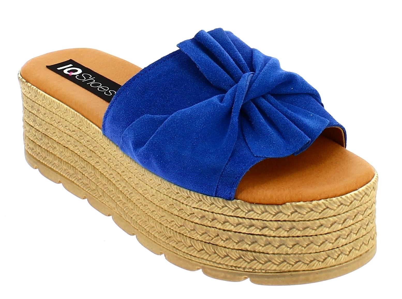 IQSHOES Γυναικεία Σανδάλια 77.653 Μπλε - IqShoes - 77.653 BLUE-IQSHOES-blue-36/1 παπούτσια  γυναικεία σανδάλια   πέδιλα