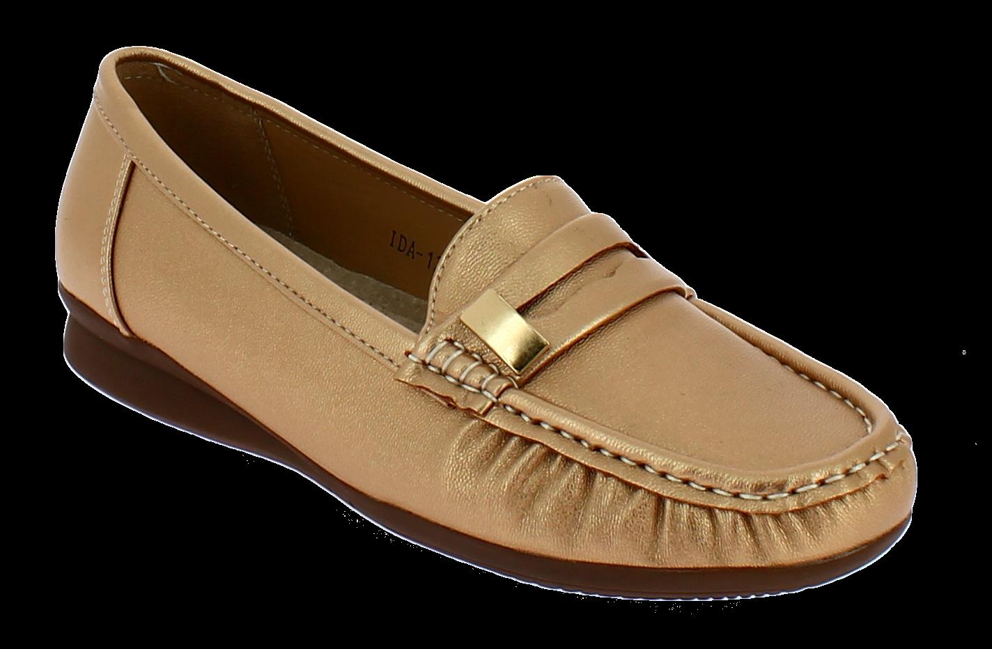 ANTRIN Γυναικείο Comfort IDA-120 Χρυσό - IqShoes - IDA-120 GOLD-ANTRIN-gold-37/1 προϊόντα παπούτσια