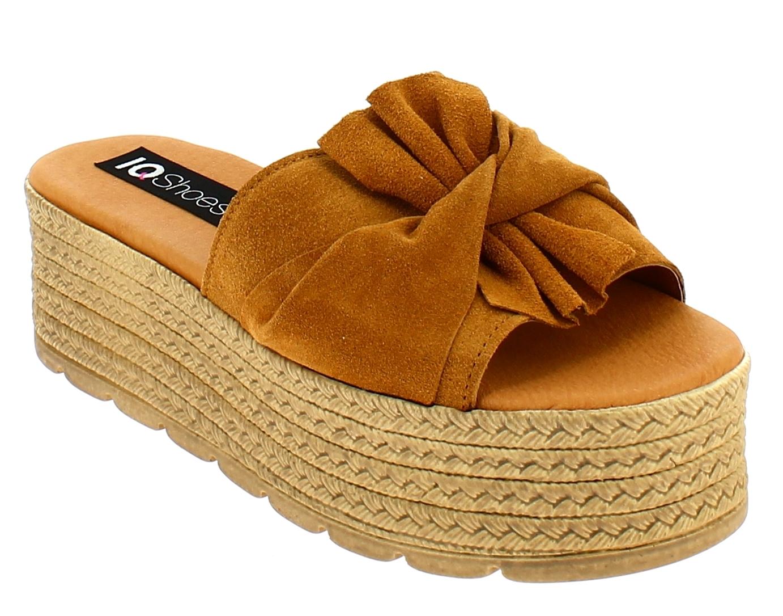 IQSHOES Γυναικείο Flatform 77.653 Ταμπά - IqShoes - 77.653 CAMEL-IQSHOES-camel-3 παπούτσια  γυναικεία σανδάλια   πέδιλα