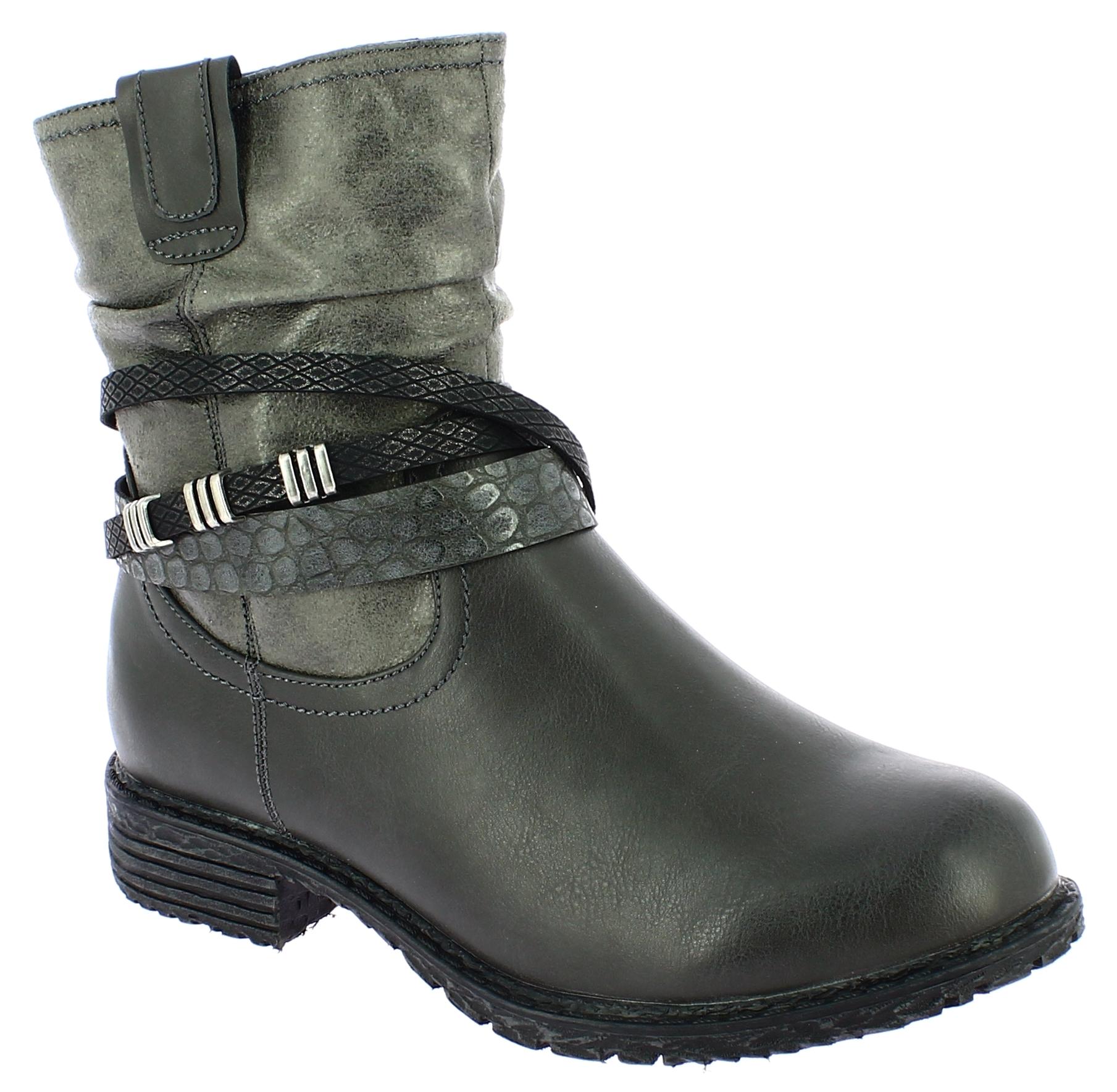 SCANDI Γυναικείο Μποτάκι 56-0170-C1 Γκρι - SCANDI - 56-0170-C1 GREY -SCANDI-grey παπούτσια  new in
