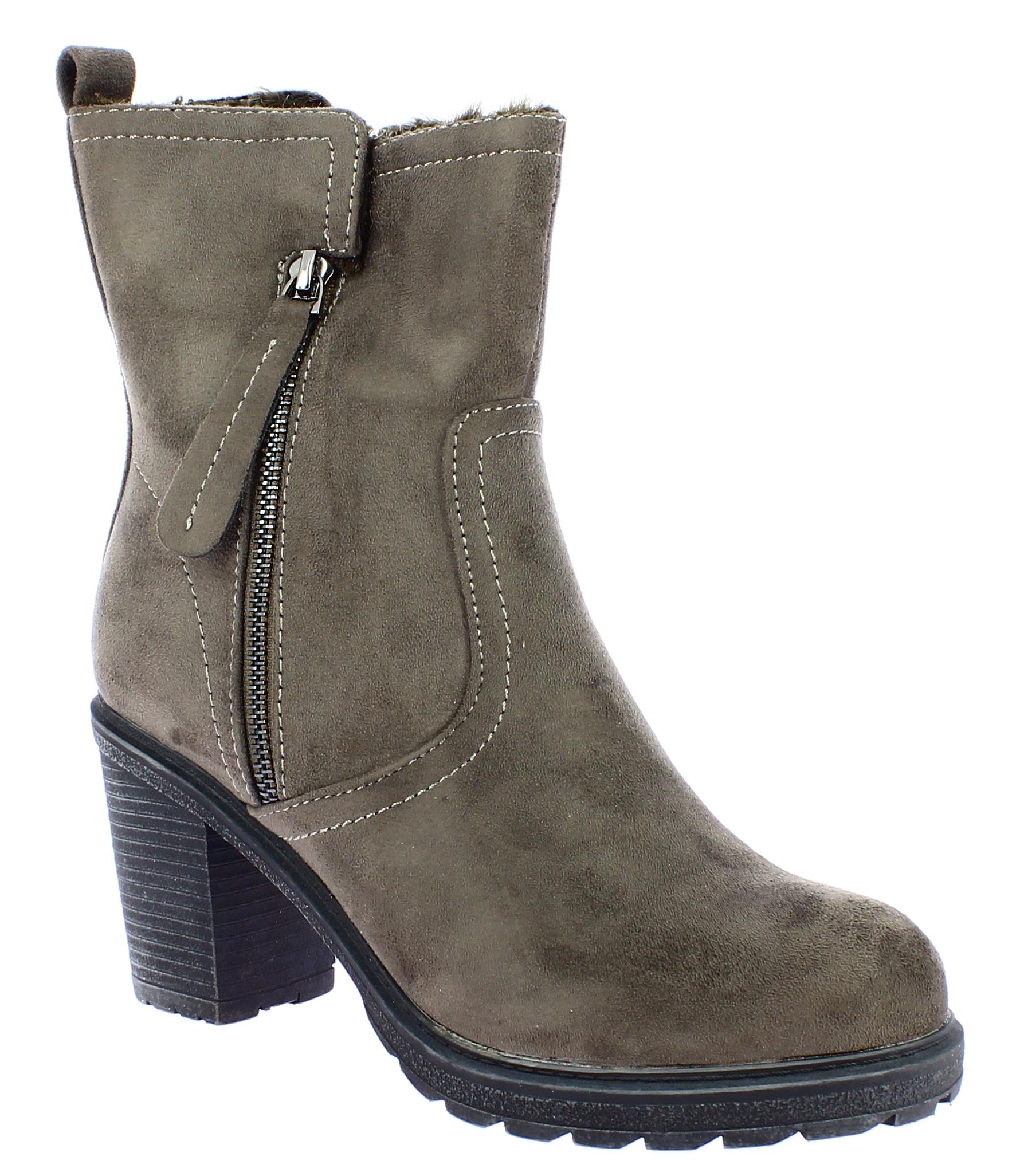 SCANDI Γυναικείο Μποτάκι 56-0391-C1 Ταούπε - SCANDI - 56-0391-C1 TAUPE-SCANDI-gr παπούτσια  new in