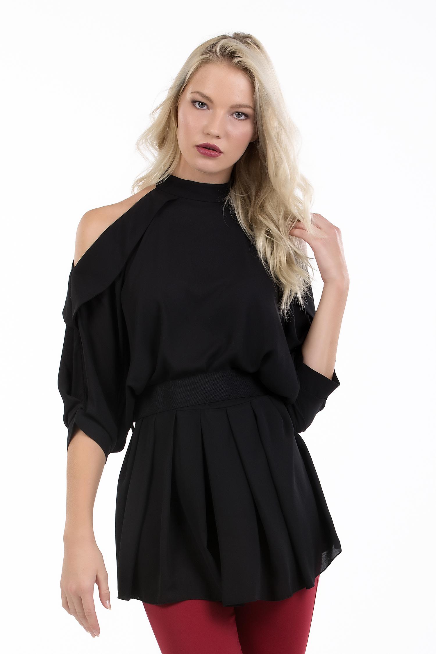 Γυναικεία Elegant Online μπλούζα μουσελίνα με ζώνη στη μέση - ONLINE - FA17ON-16