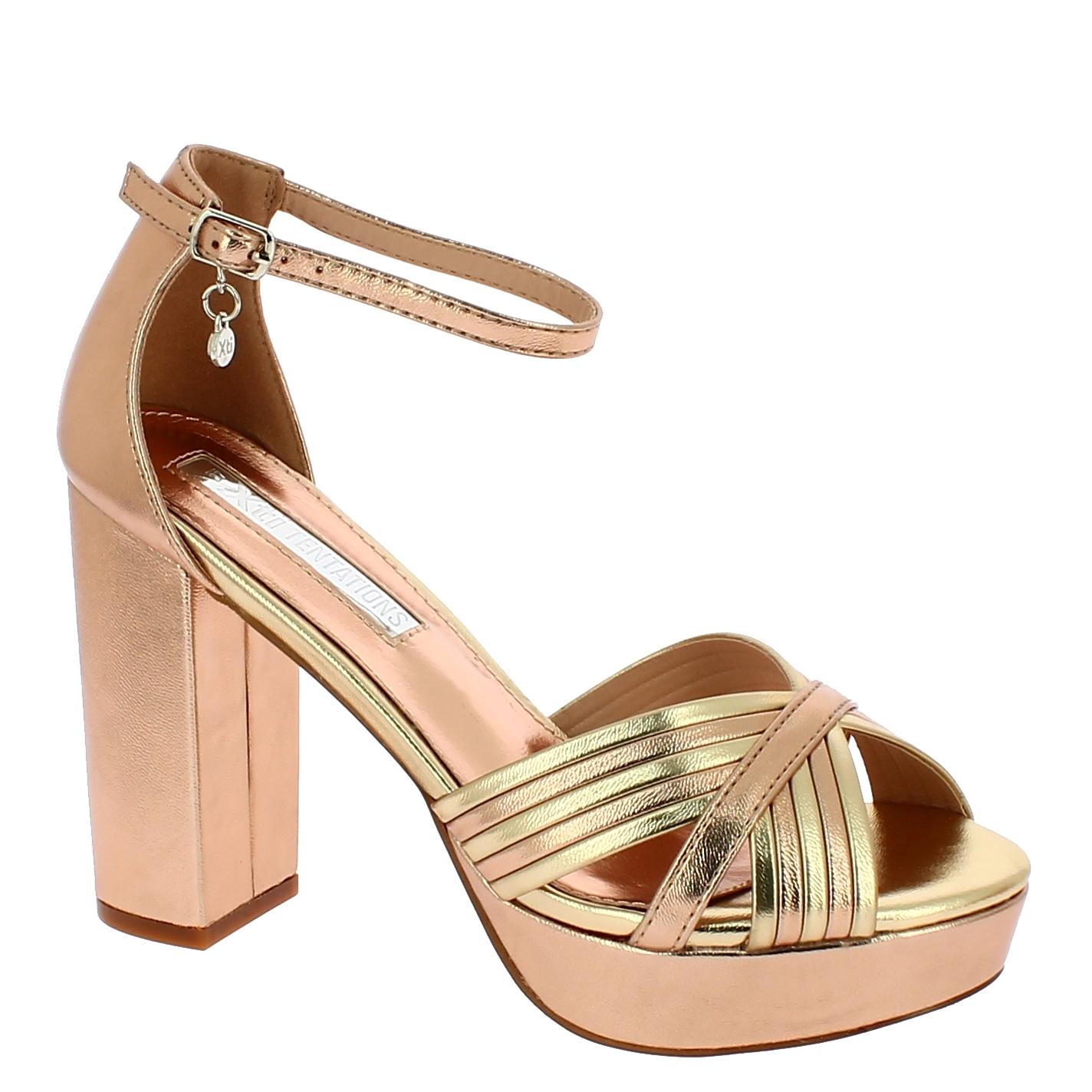 XTI Γυναικείο Πέδιλο 35037 Μπρονζέ - XTI - 35037 NUDE-XTI-bronze-36/1/34/7 παπούτσια  new in