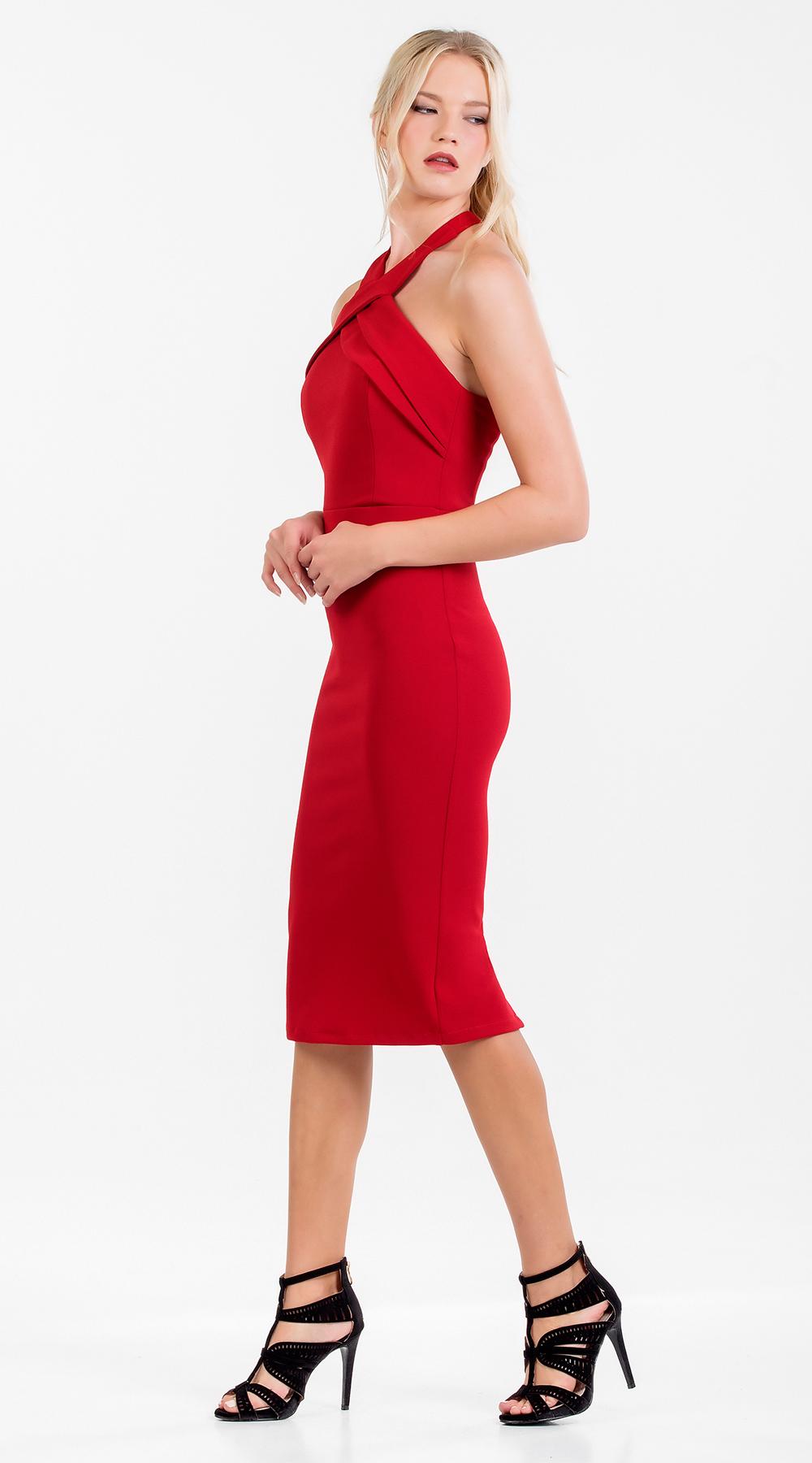 ec97be60b998 Μίντι bodycon εξώπλατο φόρεμα infinity Online - OEM - F17ON-5824030