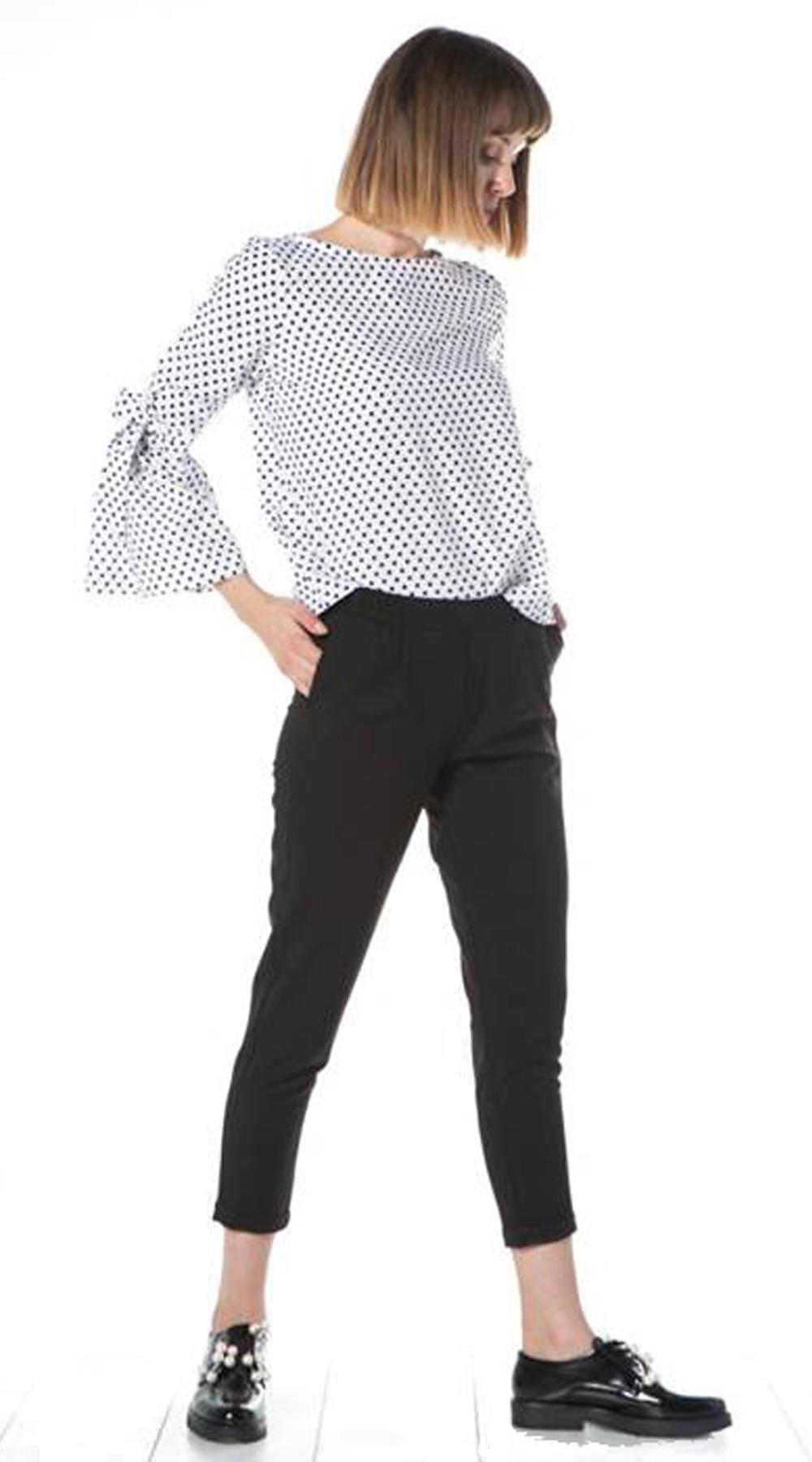 Γυναικείο office look πουκάμισο με δέσιμο καμπάνα στα μανίκια - OEM - FA17NA-110 μπλούζες   t shirts elegant tops