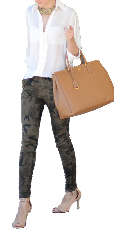 Γυναικείο Ελαστικό Παντελόνι Military με τσέπες - OEM - FA17SO-3990 top trends prints