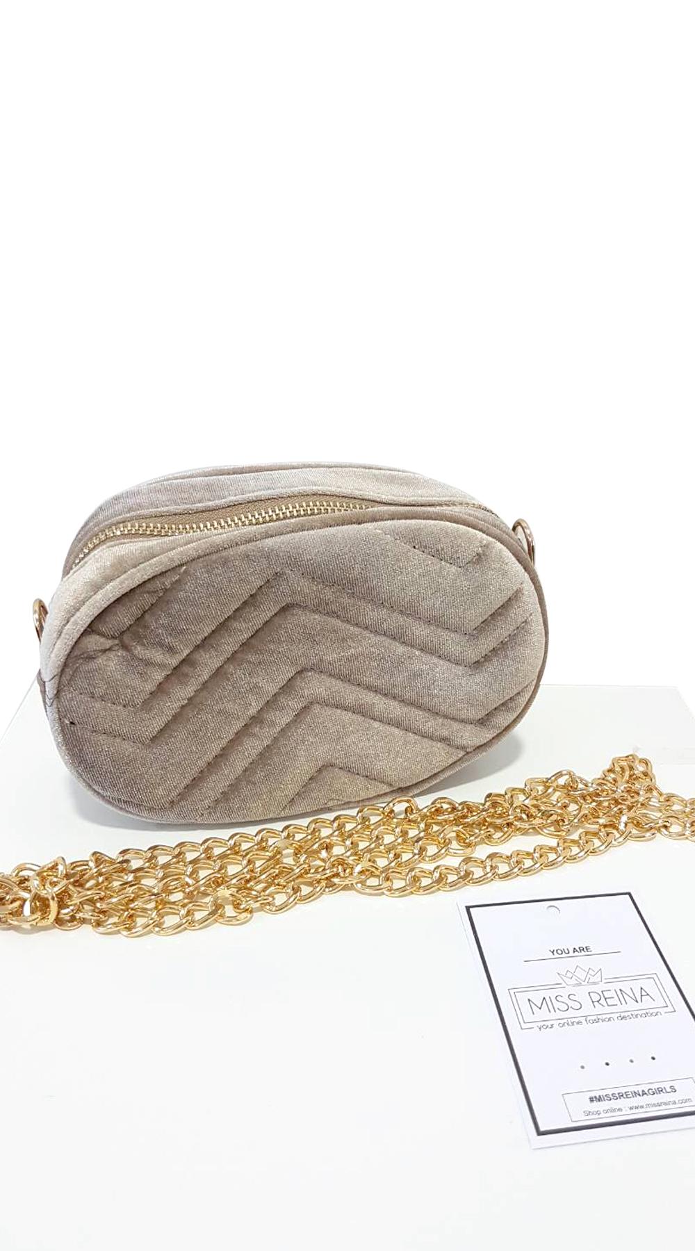 Βελούδινο Belt Bag - MissReina - FA18AC-62924 top trends bags   shoes missreina