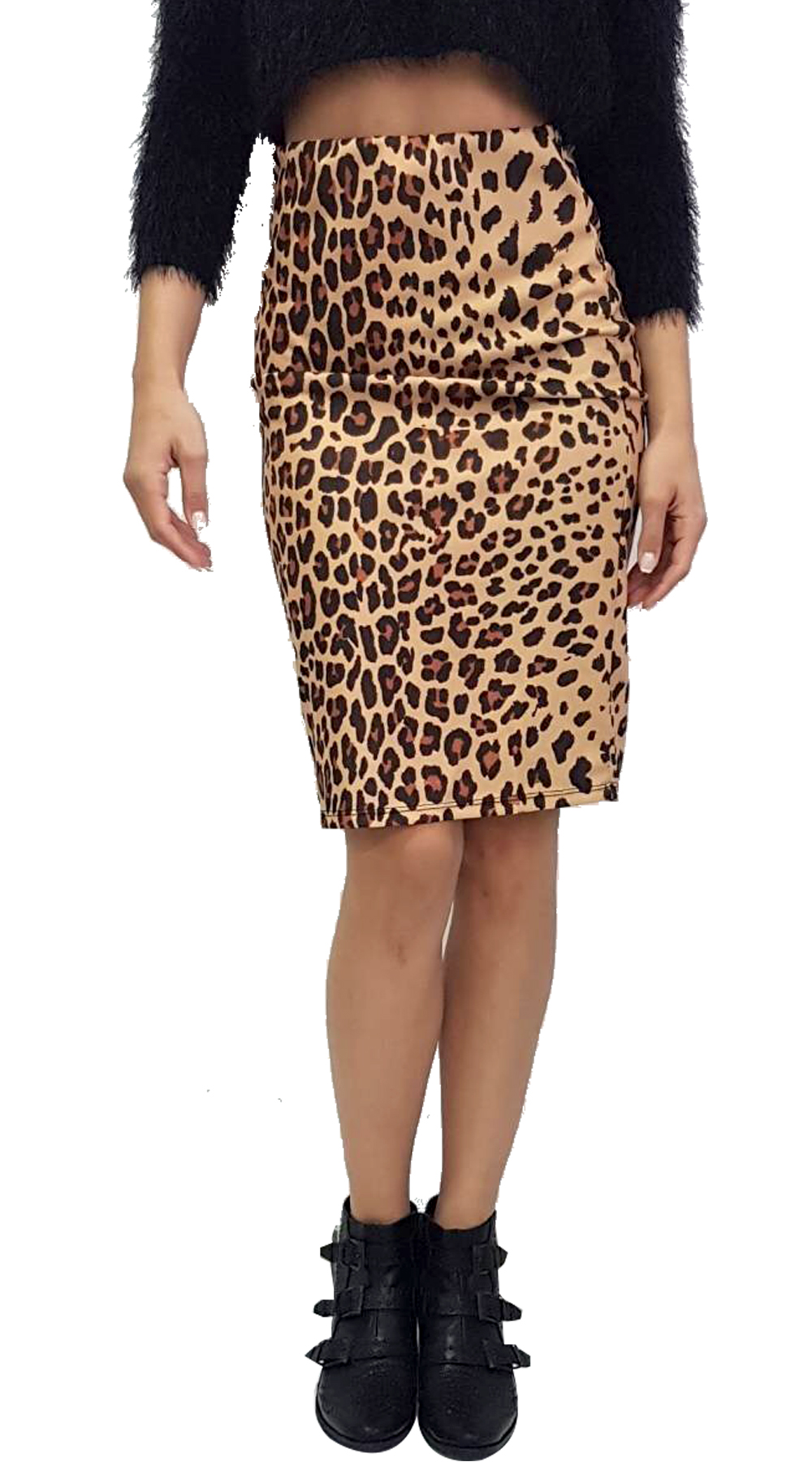Midi Bodycon Leopard Φούστα - MissReina - FA18SOF-71070 animal prints animal prints