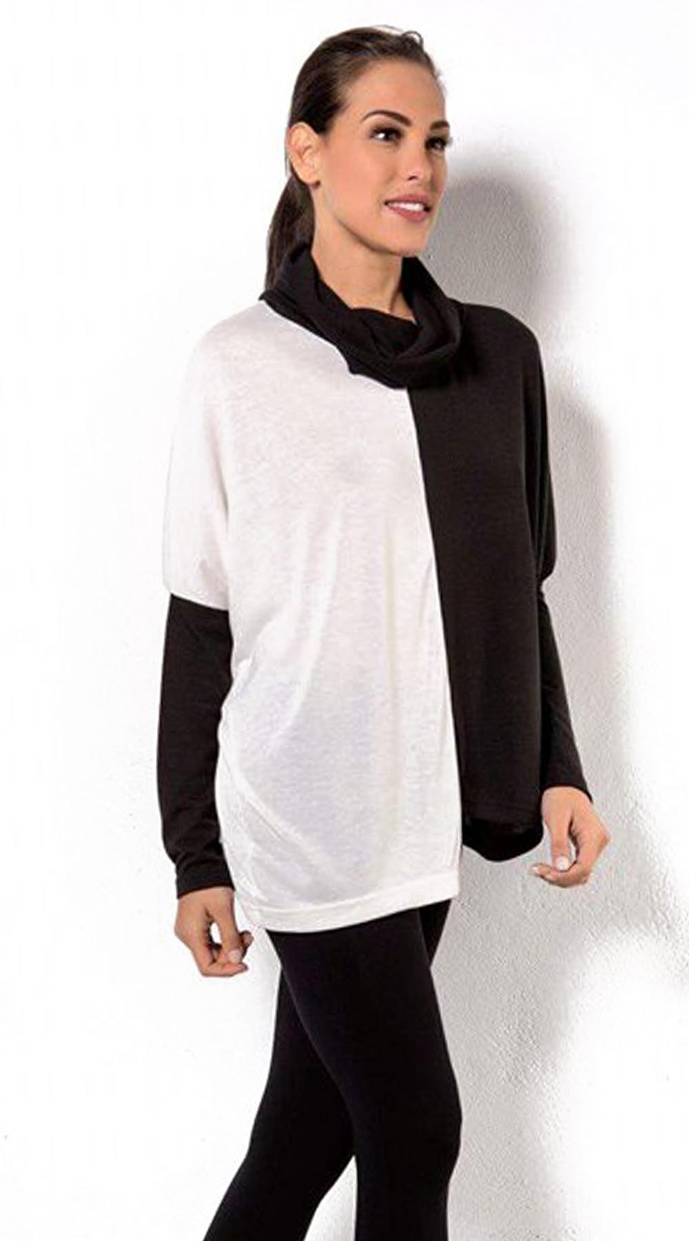 Γυναικεία μπλούζα ζιβάγκο casual chess - OEM - FW17CM-11065 μπλούζες   t shirts elegant tops