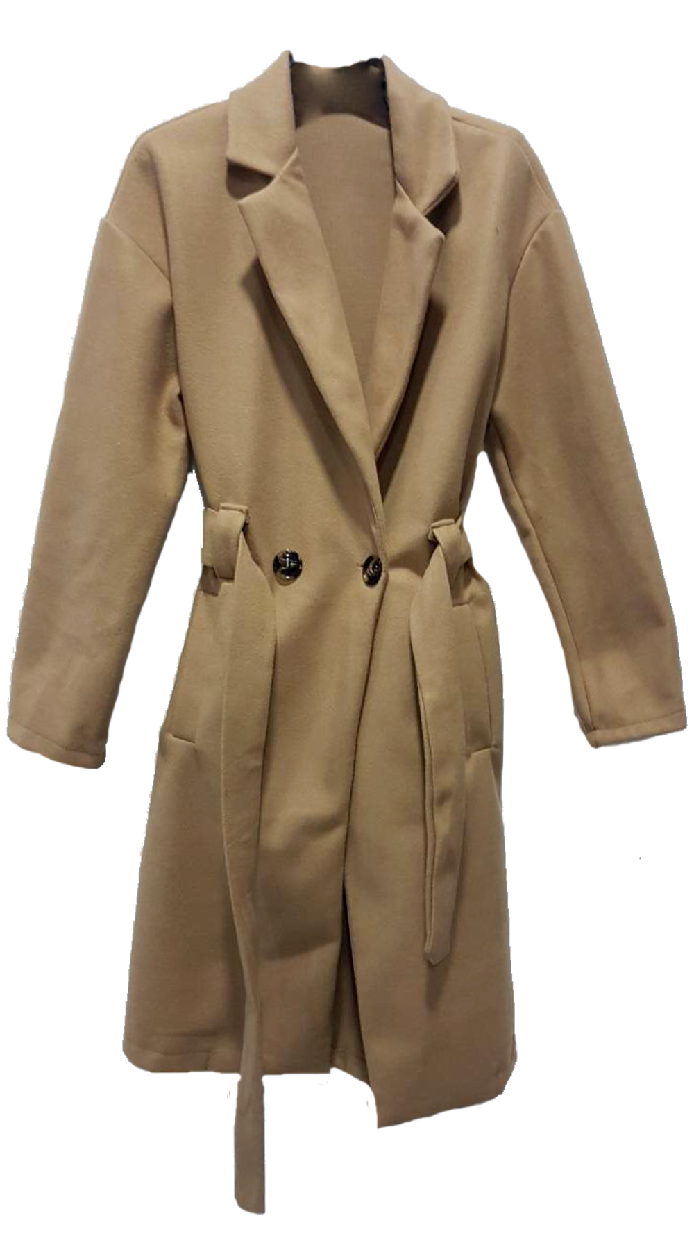 Lux Παλτό με ζώνη και τσέπες - MissReina - FW18JB-40522 πανωφόρια παλτό