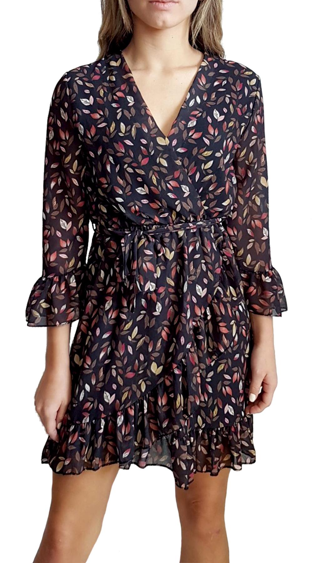 Φλοράλ Φόρεμα με Δέσιμο - MissReina - FW20SOF-51463