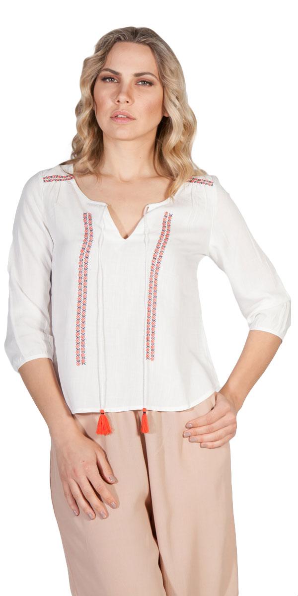 Έθνικ μπλούζα με κορδονάκι - MissReina - S16MW-2417V ενδύματα μπλούζες   t shirts