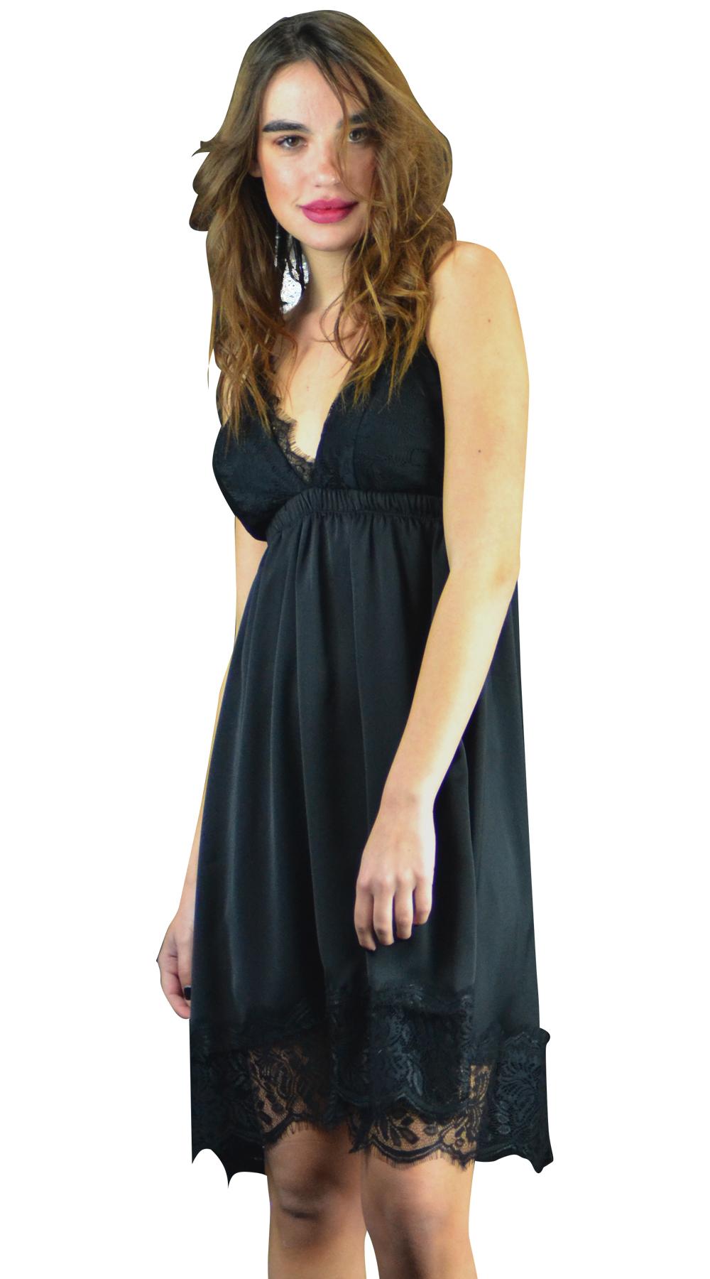 Βραδυνό μίνι φόρεμα με δαντέλα στο μπούστο - OEM - FA17LV-5404122650 glam occassions wedding shop