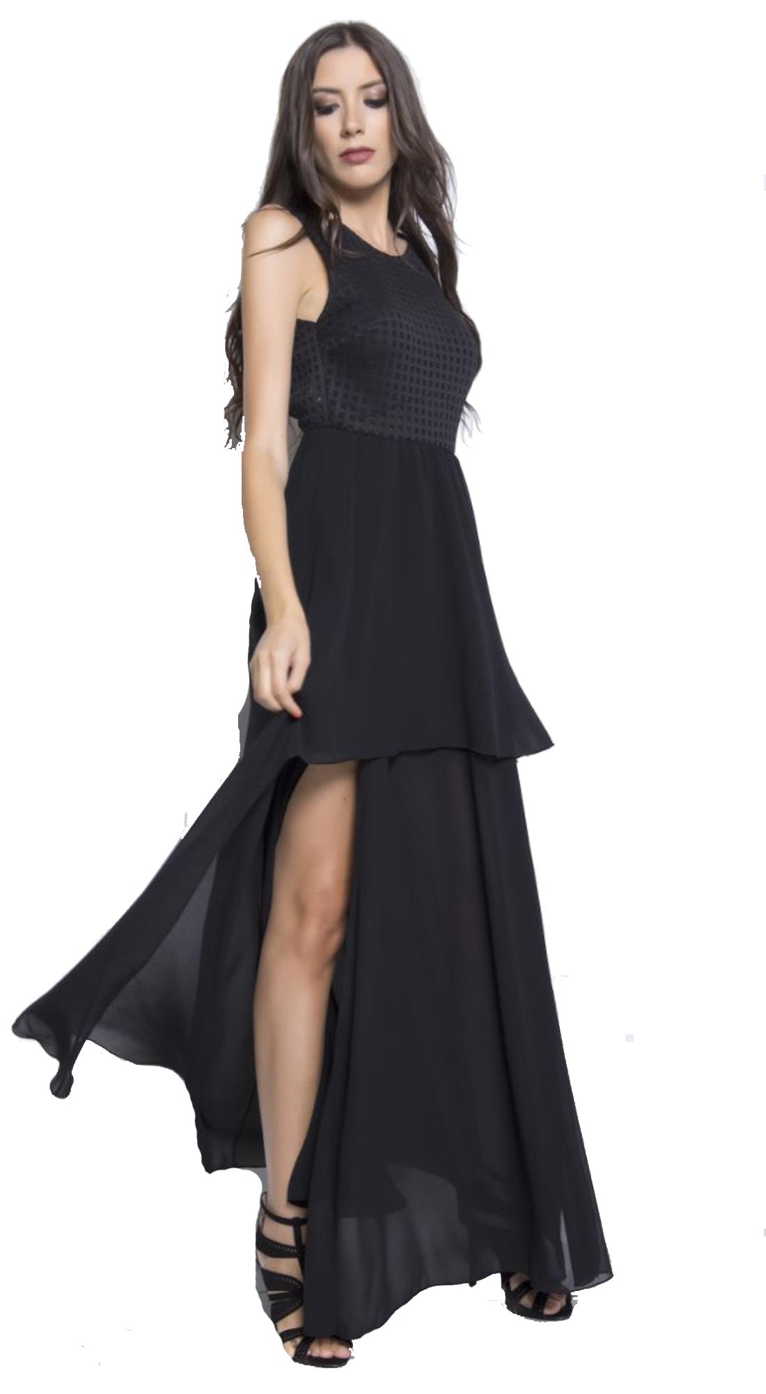 Βραδυνό μάξι φόρεμα ασσύμετρο με σχέδιο - OEM - FA17SOF-5404093 glam occassions wedding shop