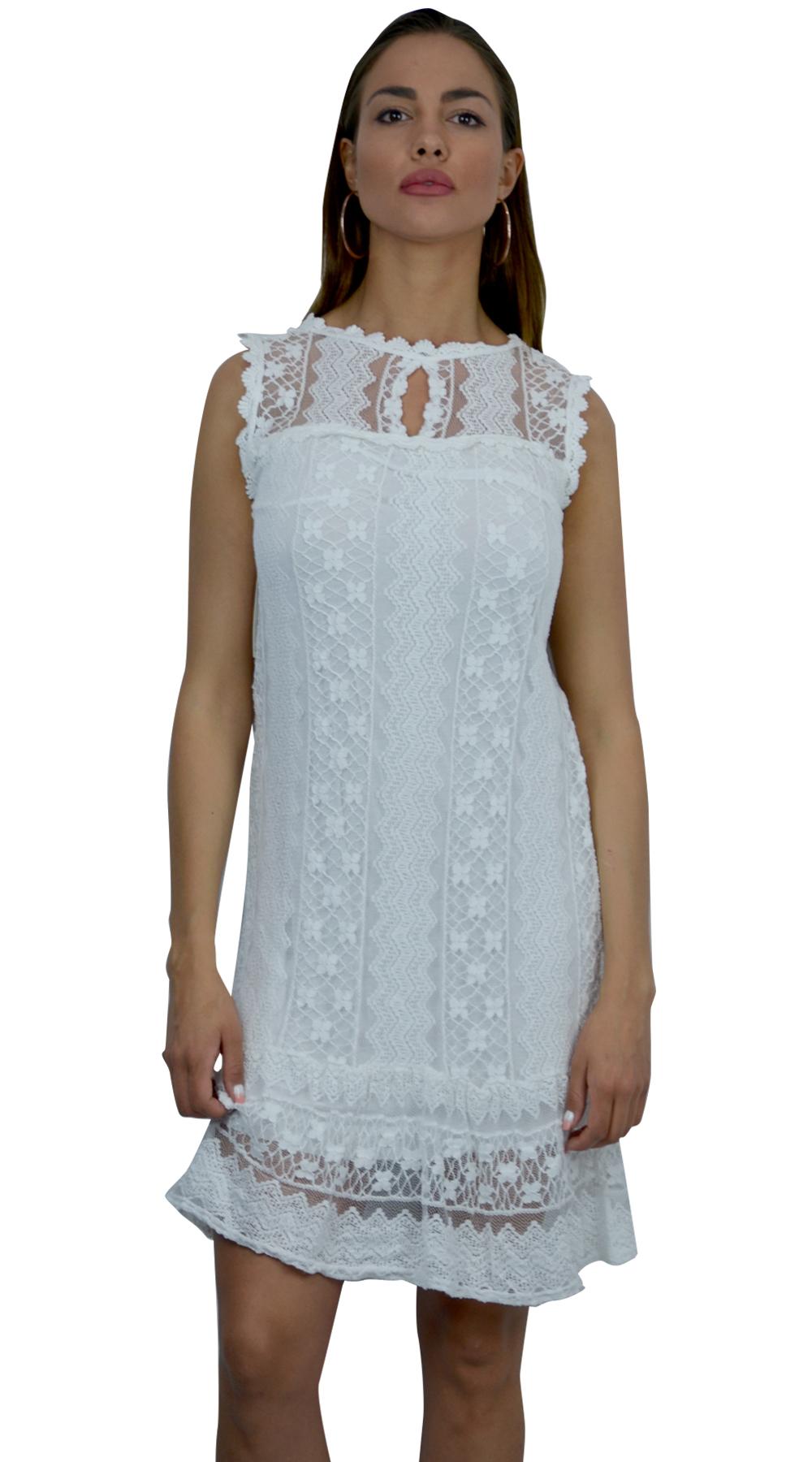 Midi romantic boho lace dress | Lace | missreina.com