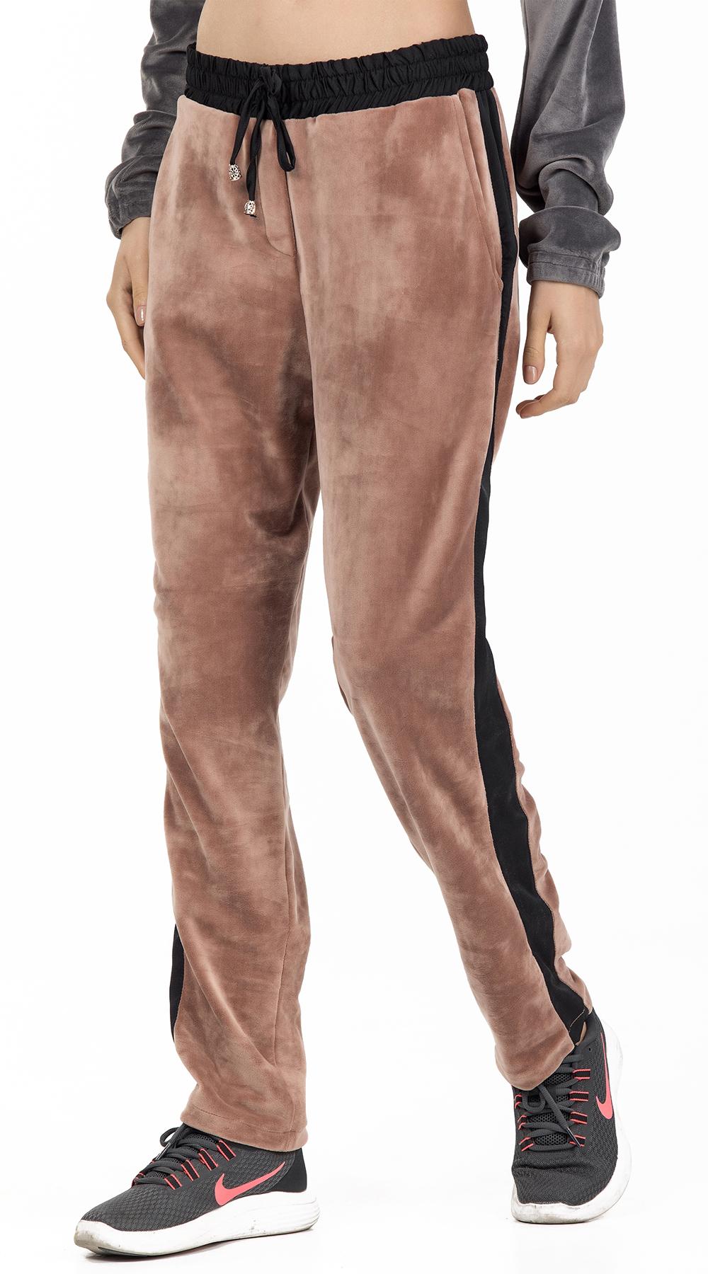 Γυναικείο βελούδινο παντελόνι φόρμας με ρίγα στο πλάι Online - ONLINE - FA17ON-3 top trends casual chic