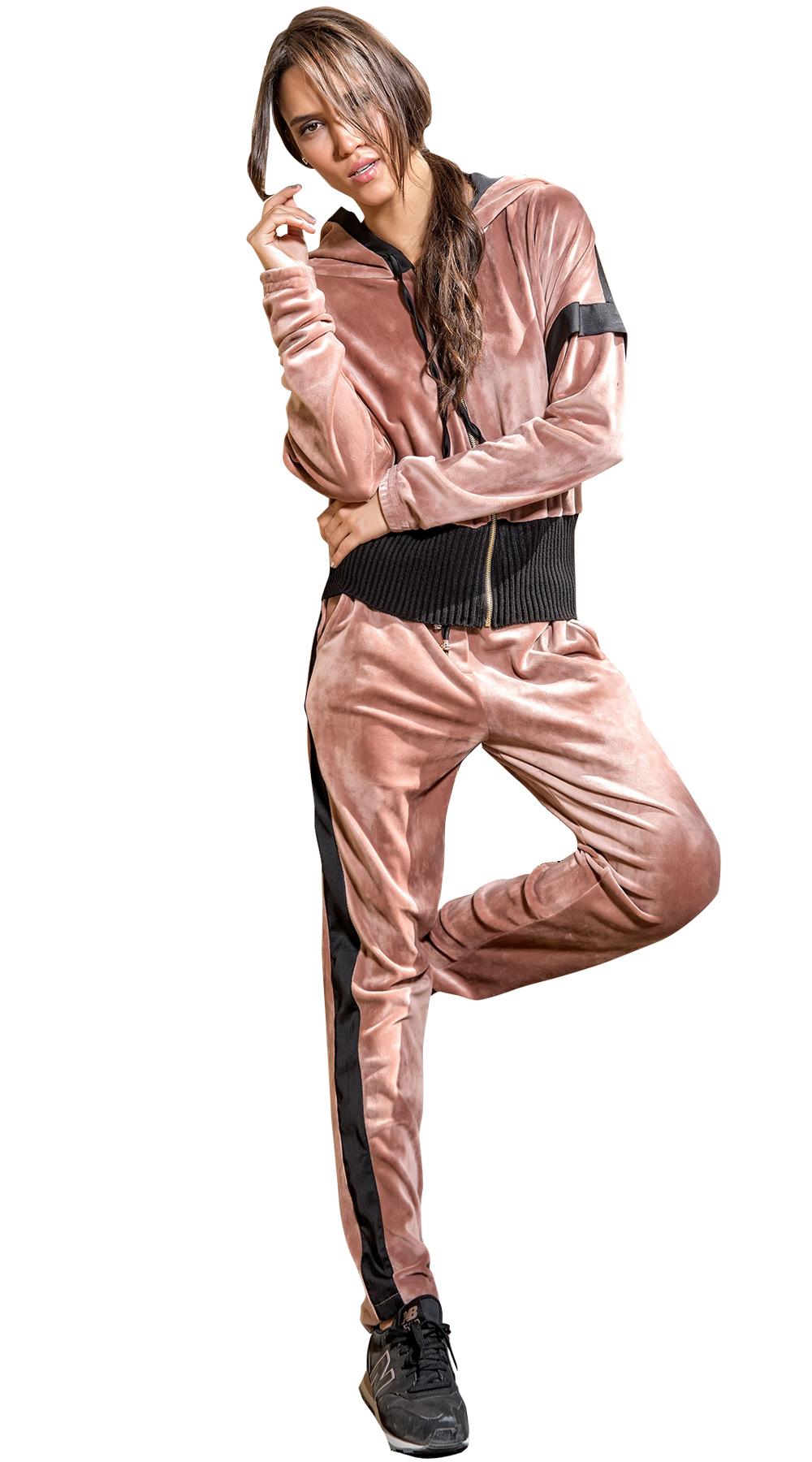 Σετ γυναικεία φόρμα βελούδινη Online - ONLINE - FA17ON-98897 top trends ασορτί σετ
