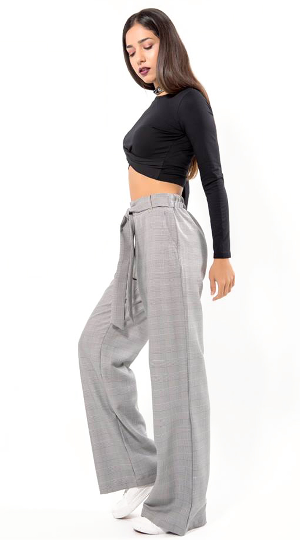 080fc384e55 Γυναικείο φαρδύ παντελόνι καρό | ΚΟΛΑΝ - ΠΑΝΤΕΛΟΝΙΑ | missreina.com
