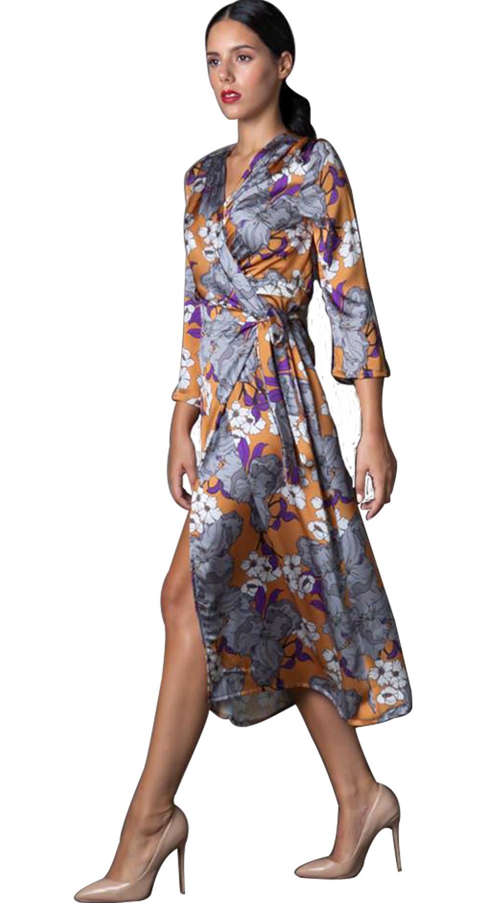 Κρουαζέ Μίντι Φλοράλ Φόρεμα  7a2819f2d90