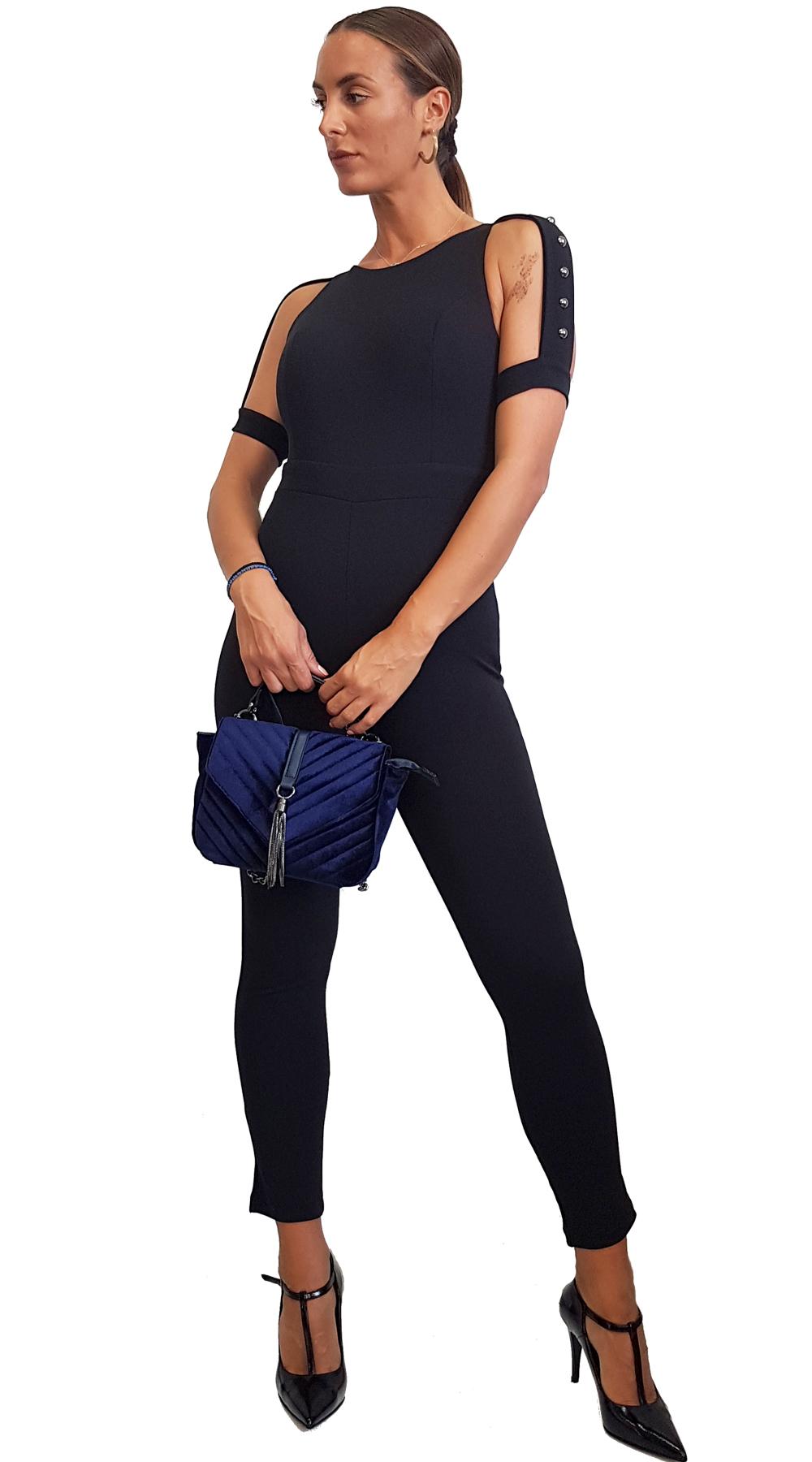 Ολόσωμη φόρμα με cut-out σχέδιο στα μανίκια ONLINE - ONLINE - FA18ON-24297 top trends cut outs
