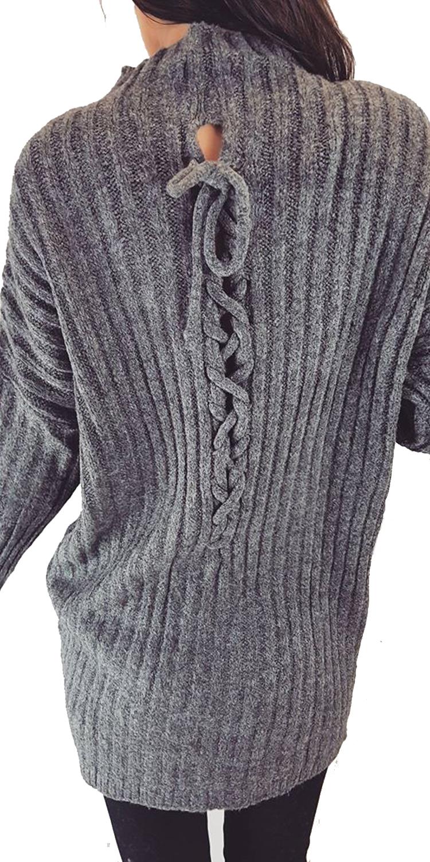 Γυναικεία Rip Πλεκτή Μπλούζα με Δέσιμο Πίσω μακρυμάνικη  8a2a7f86dc0