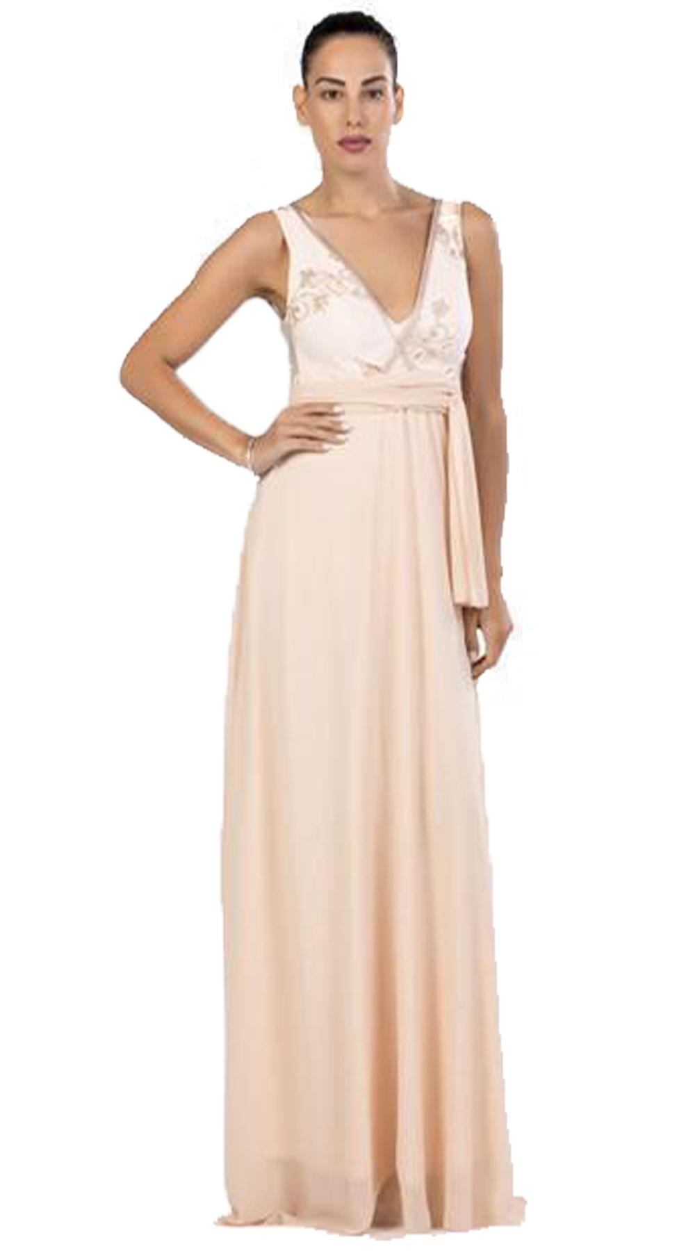 a93c6516756 Κομψό μάξι φόρεμα σε αρχαιοελληνική γραμμή με άνοιγμα στην πλάτη | Βραδινά  φορέματα απο τη MissReina | missreina.com