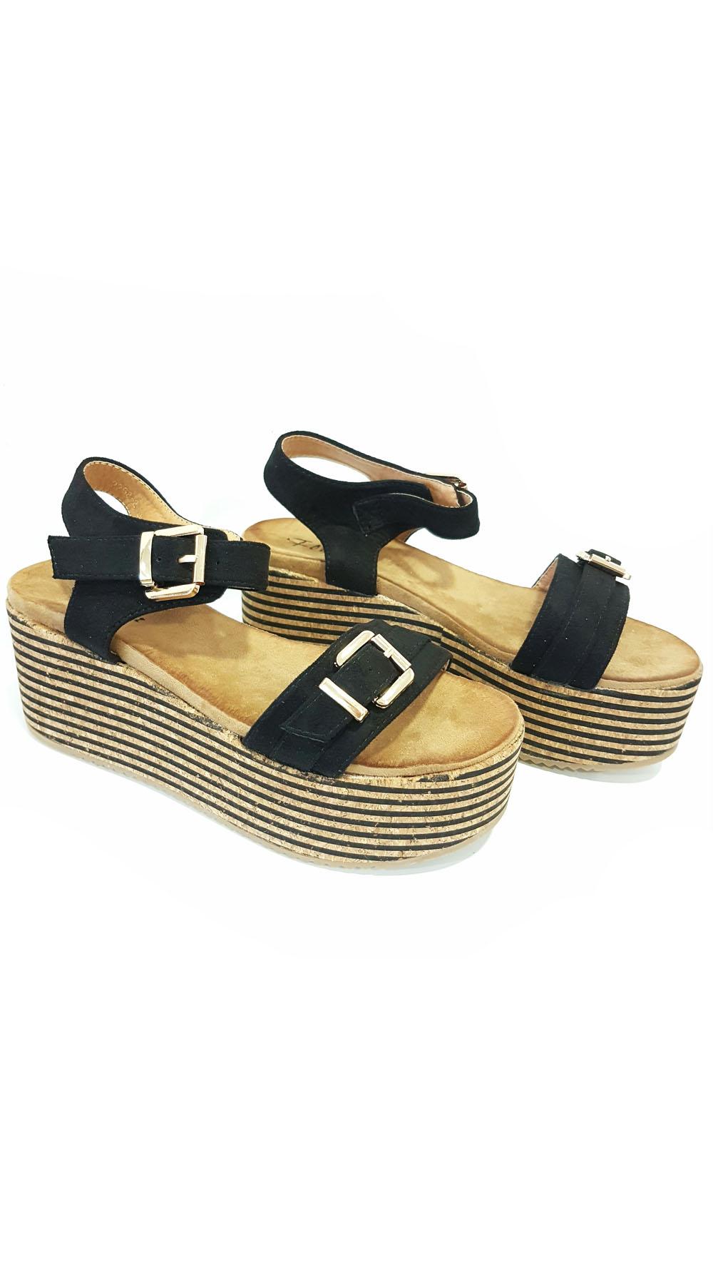 Σουέντ Πέδιλο Πλατφόρμα με λουράκι - OEM - S17-62268 top trends casual chic