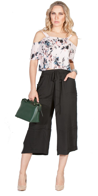 Ζιπ-κιλότ με τσέπες στο πλάι - OEM - S16LW-3083JP ενδύματα κολάν   παντελόνια