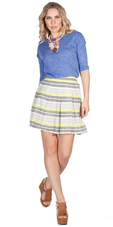 Girly ριγέ φούστα - OEM - S16SFM-6049 ενδύματα φούστες