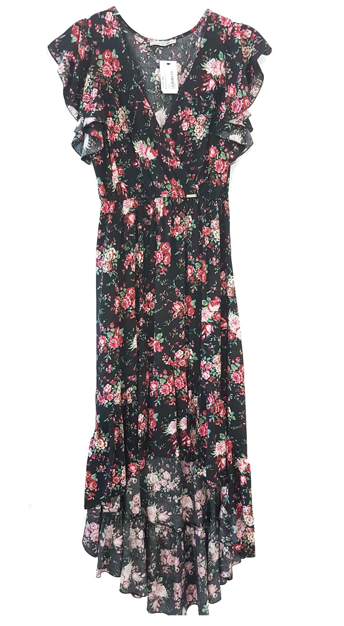 Ασσύμετρο Girly Chic Φόρεμα με Floral Μοτίβο - OEM - S17CM-55040 top trends office look