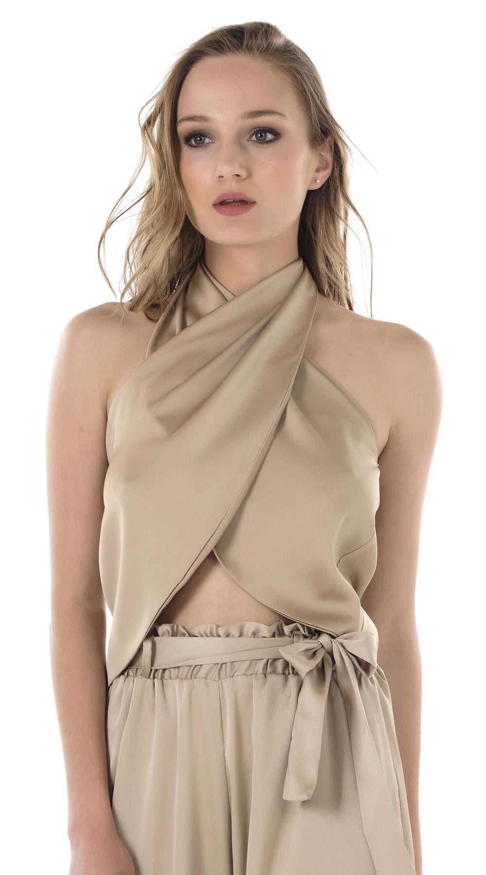 Σατέν κρουαζέ μπούστο Online - ONLINE - S18ON-16183 μπλούζες   t shirts elegant tops