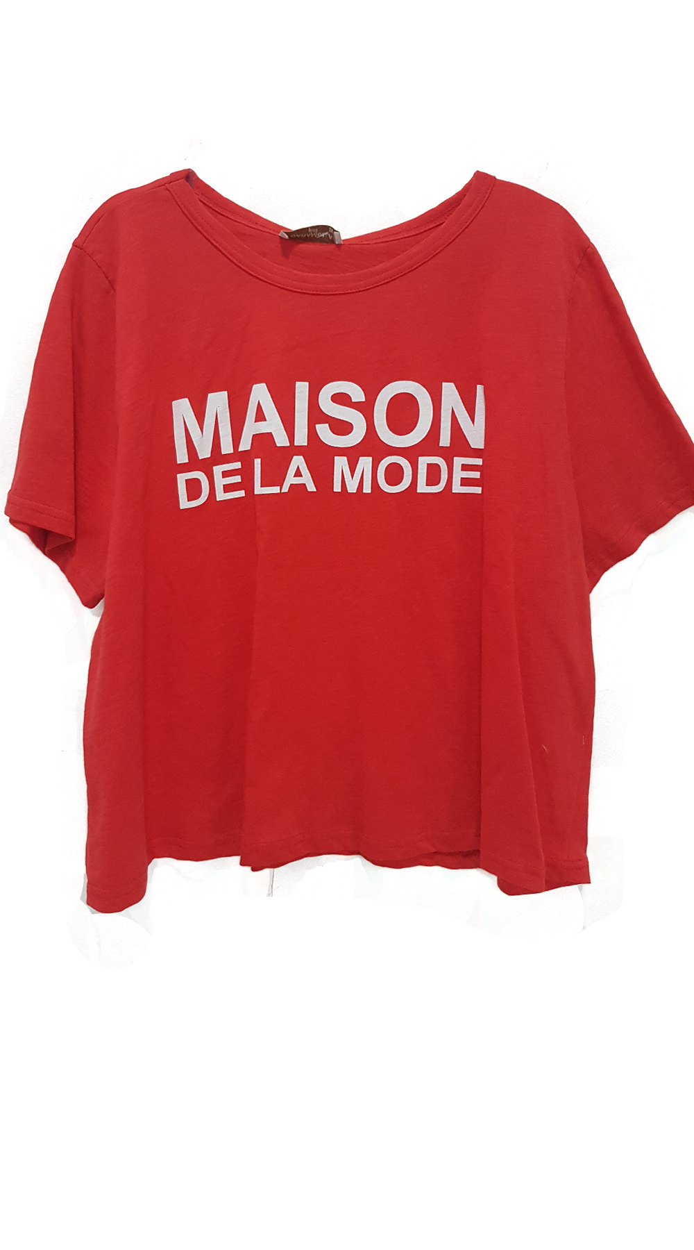 Γυναικείο t-shirt MAISON DE LA MODE - Curvy - Greek Brands - SP18CM-C-15004 curvy plus μπλούζες   πουκάμισα