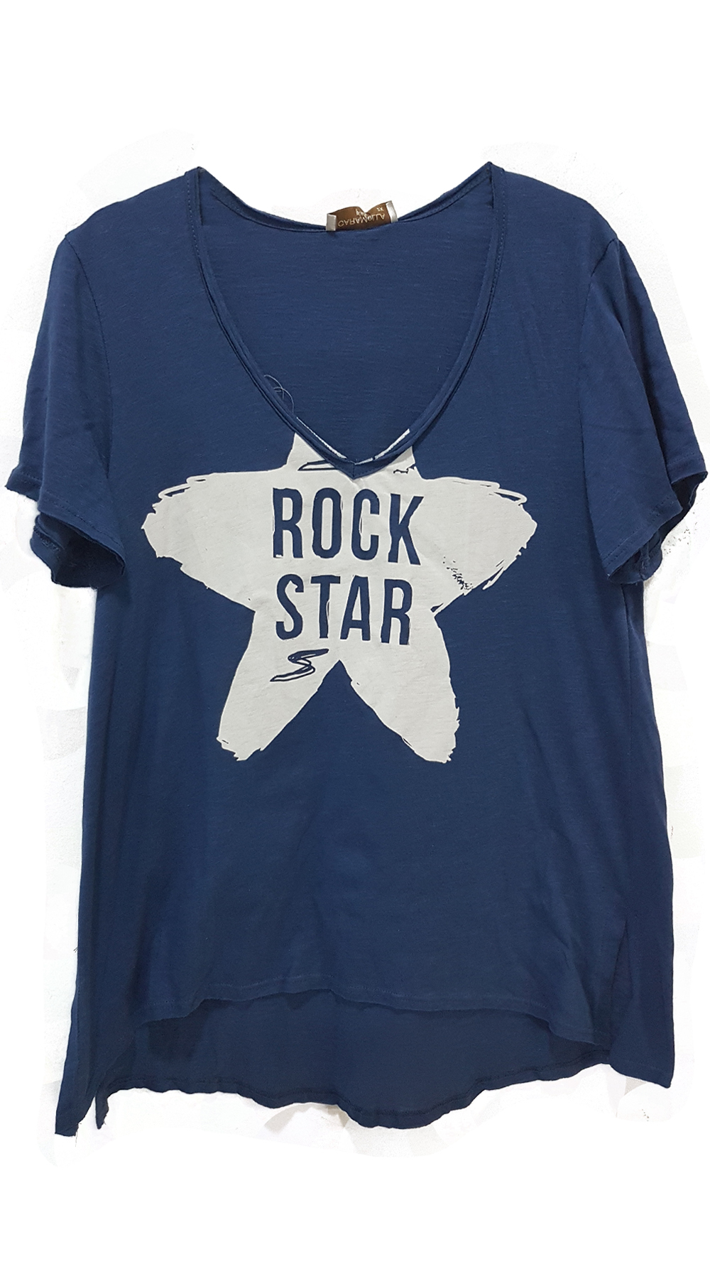 Curvy Γυναικείο t-shirt ROCK STAR - MissReina - SP18CMC-15005 μπλούζες   t shirts basic t shirts