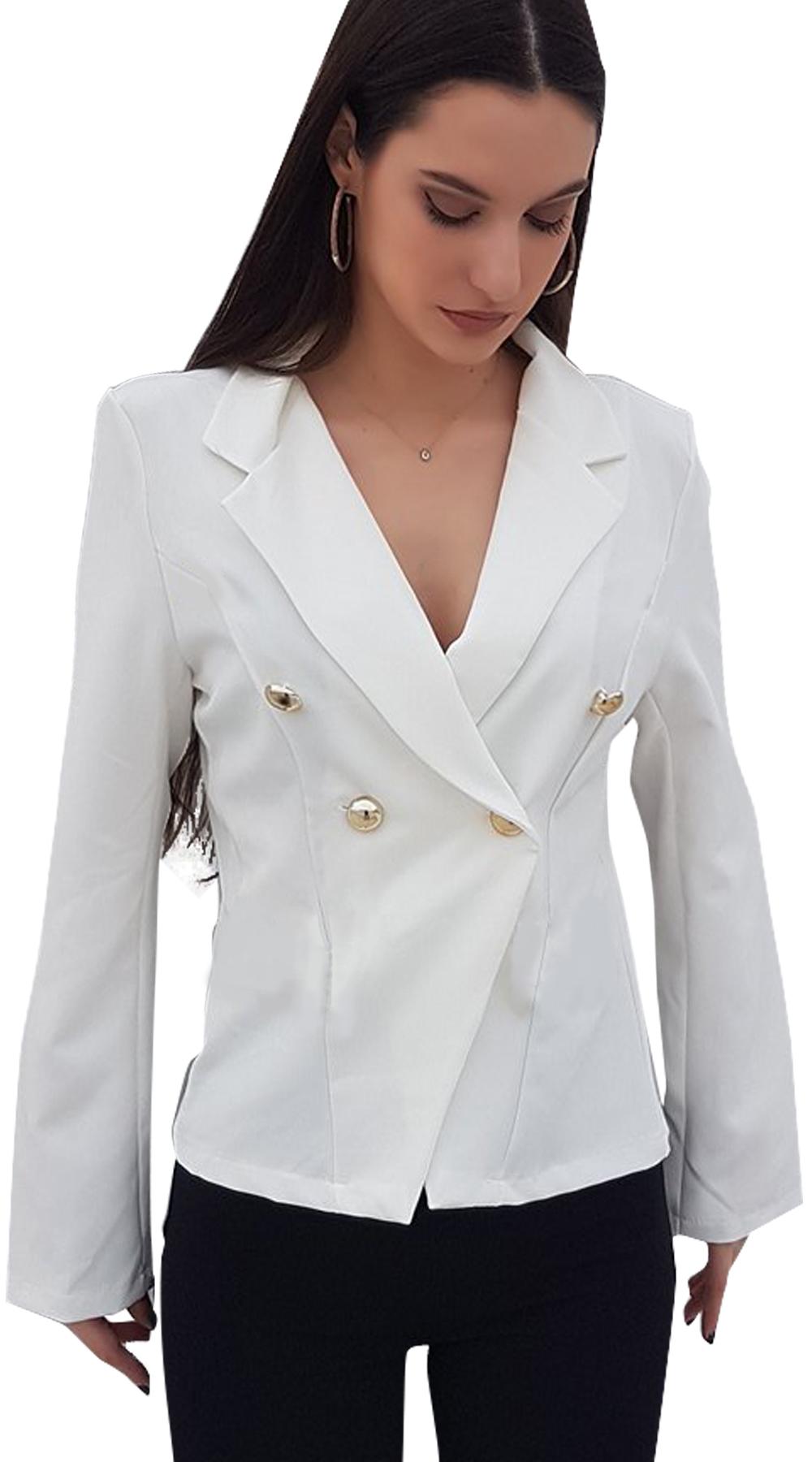 29866c6917 Γυναικείο κοντό blazer office look σταυρωτό