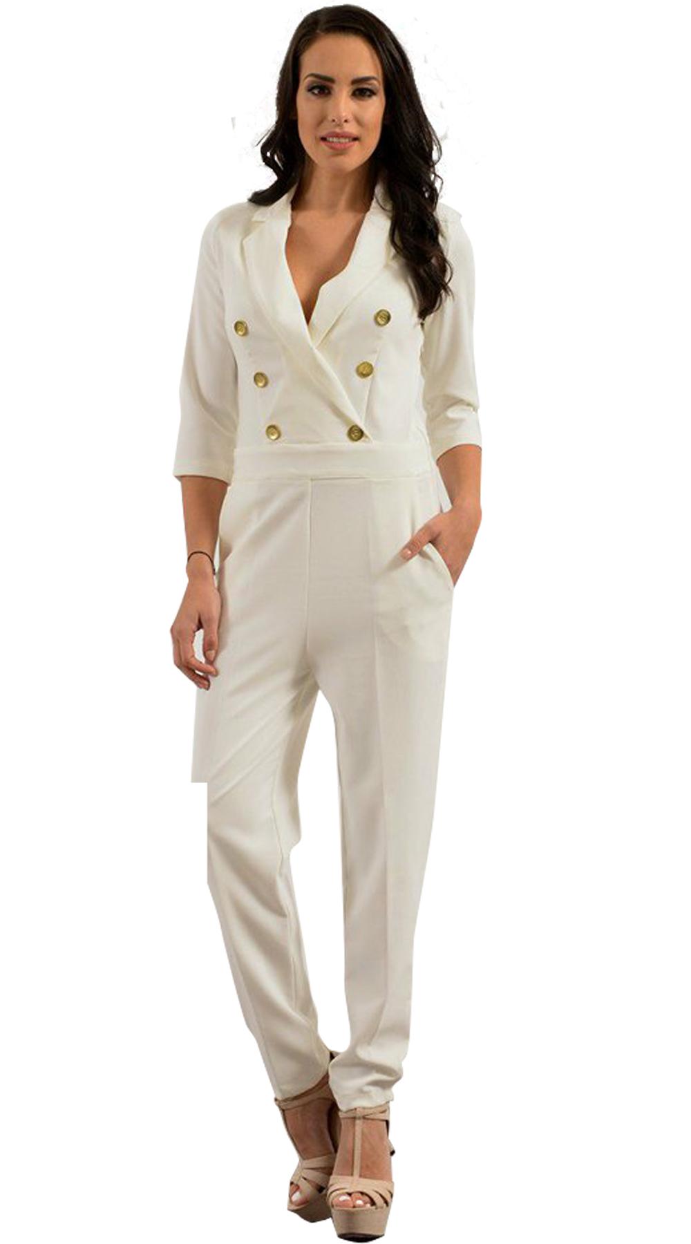 Γυναικεία ολόσωμη φόρμα σε blazer cut - LOVE ME - SP18LV-23400 top trends monochrome