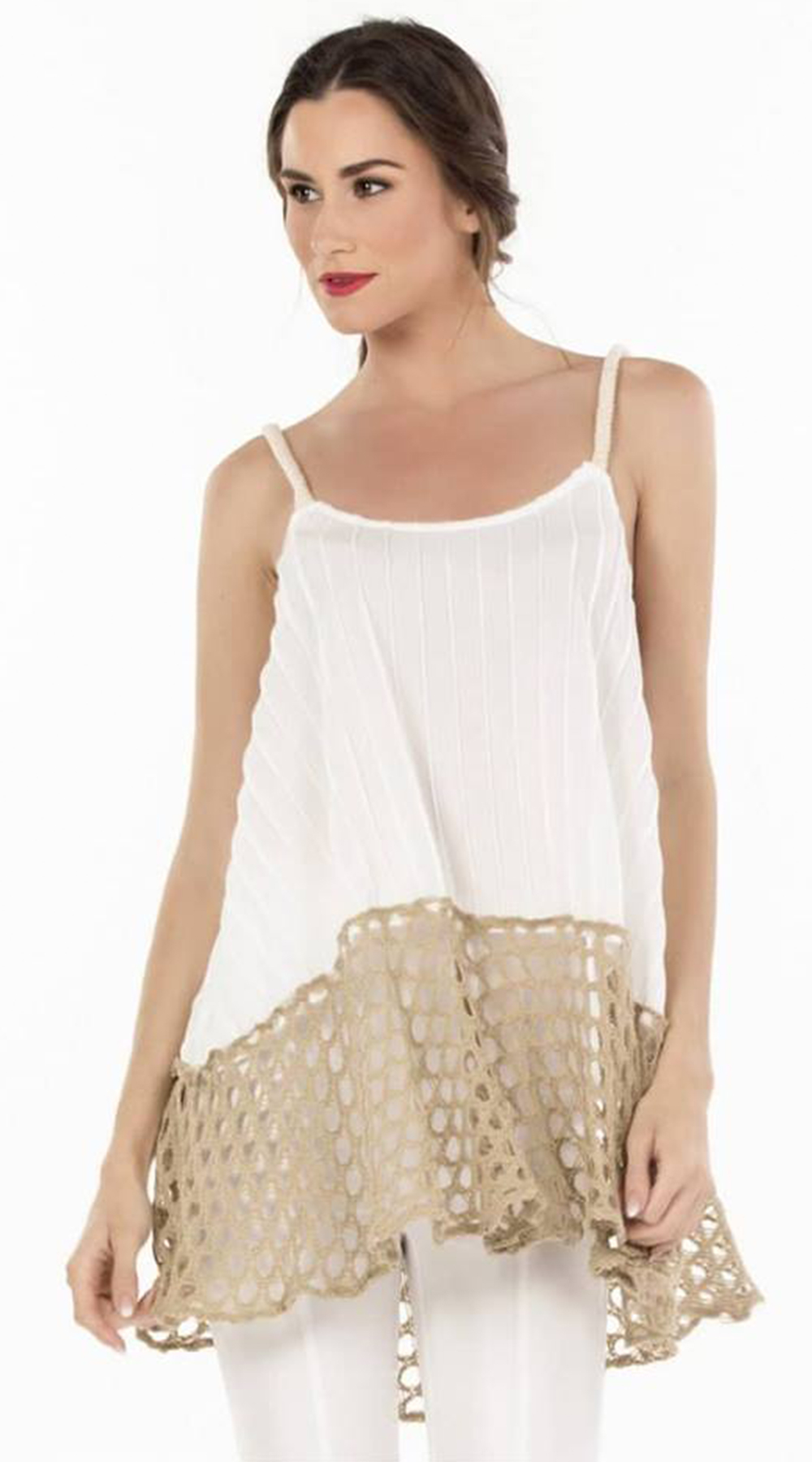 Μπλούζα με τιράντες και δίχτυ Online - ONLINE - S18ON-11355 top trends casual chic