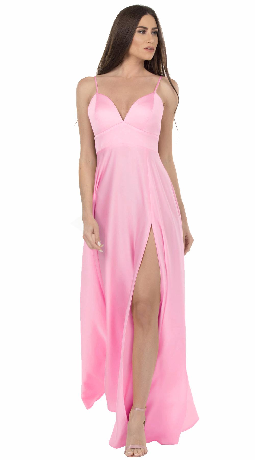 Μάξι φόρεμα με τιραντάκι Glam Pastel Online - ONLINE - SP18ON-56126 glam occassions wedding shop