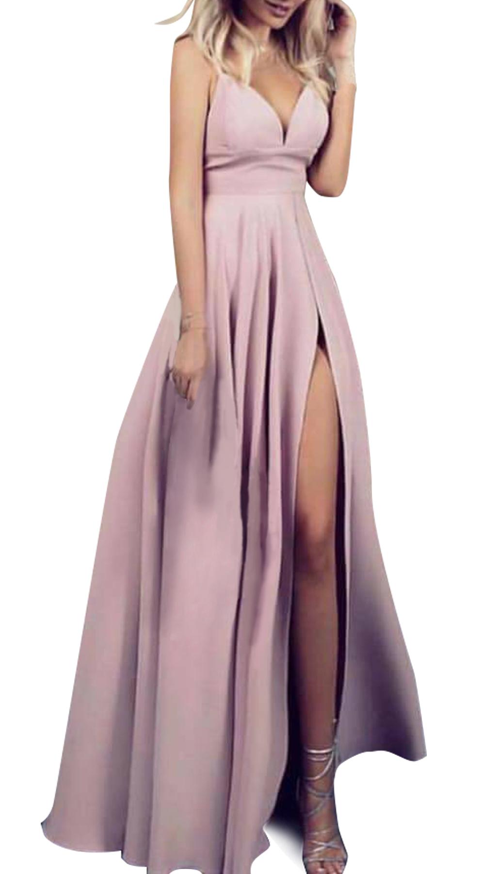 Μάξι φόρεμα με τιραντάκι Glam Pastel Online - ONLINE - SP18ON-592003 glam occassions wedding shop