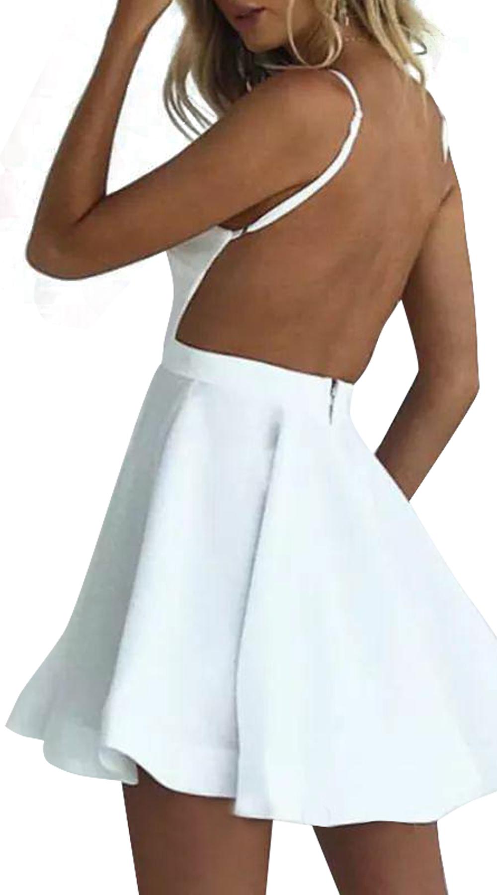 Μίνι φόρεμα κλος με ανοιχτή πλάτη - OEM - SP18SOF-5019921121 φορέματα μίνι φορέματα
