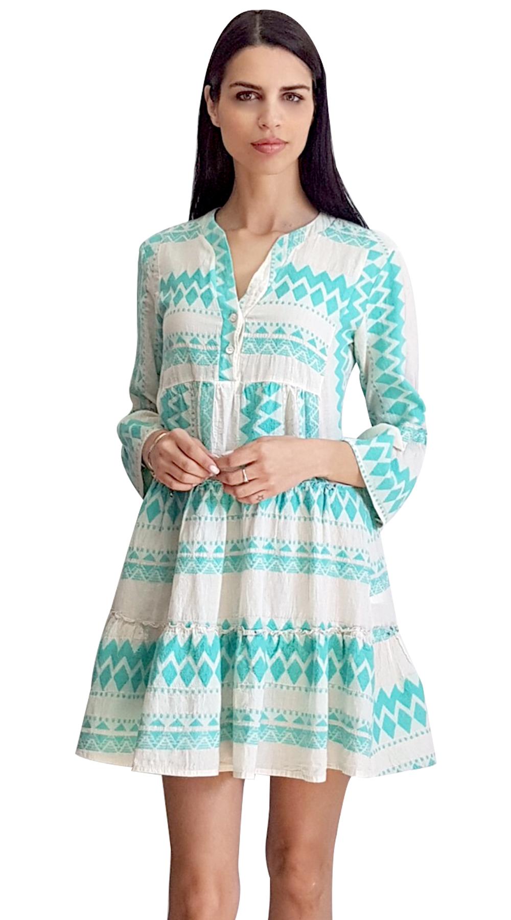 Mini Boho Φόρεμα με Βολάν ONLINE - ONLINE - SP19ΟΝ-50105 φορέματα so girly