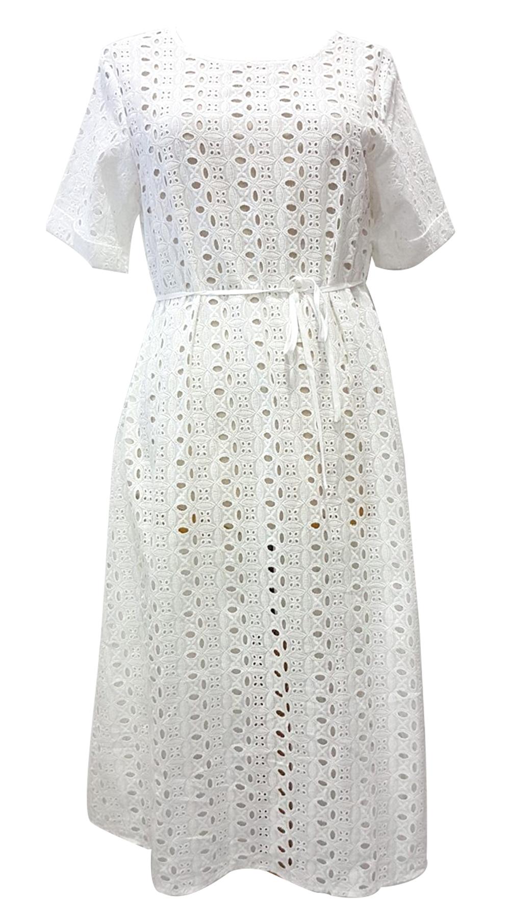 Boho Τρυπητό δαντέλα Midi Φόρεμα - MissReina - SP19GAL-52873 φορέματα so girly