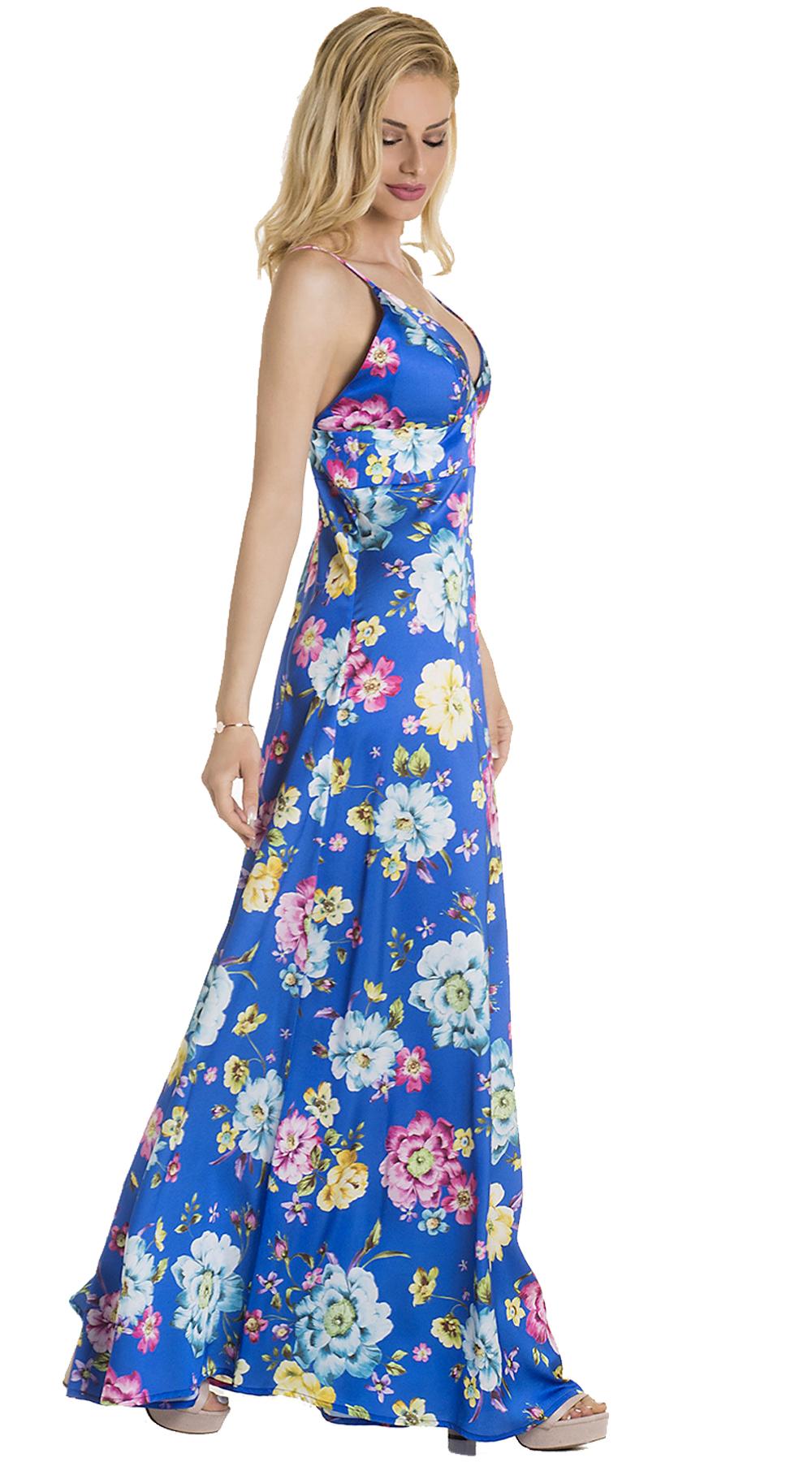 4af8077df4dc Μάξι Φλοράλ Φόρεμα με ανοιχτό μπούστο ONLINE | Υπέροχα φλοράλ ...