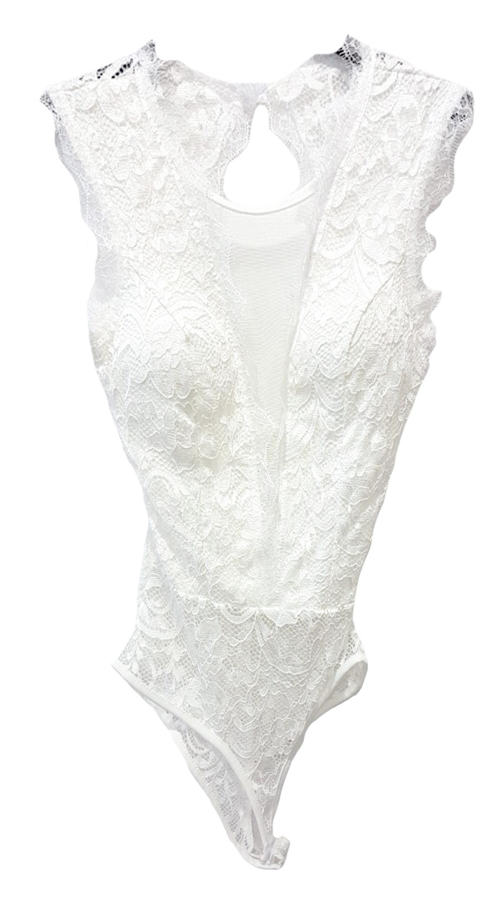 Δαντελένιο Κορμάκι με Διαφάνεια - MissReina - SP19SOF-12312 top trends casual chic