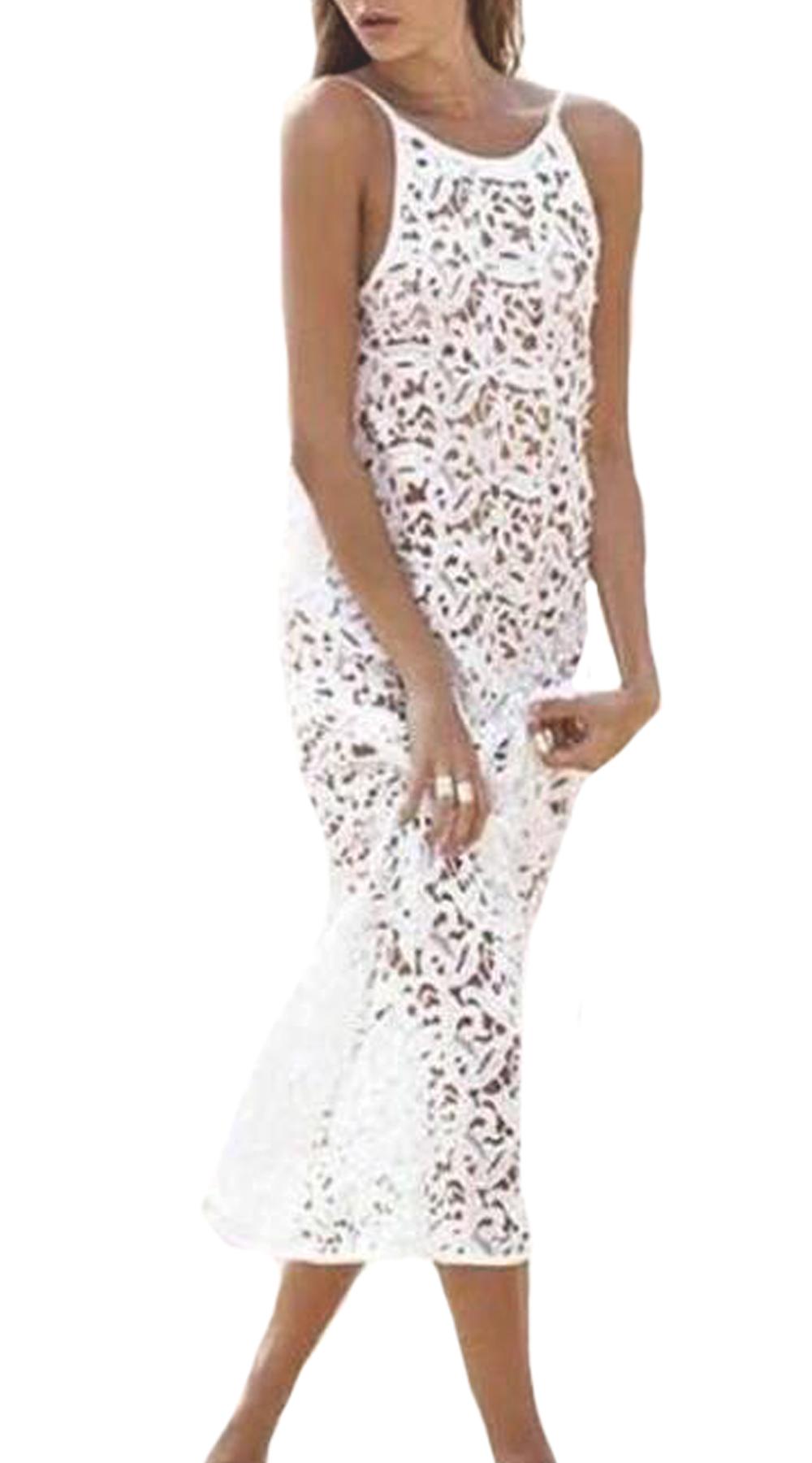 Δαντελωτό Καφτάνι-Φόρεμα - MissReina - SP19SOF-78209 ενδύματα κιμονό   καφτάνια