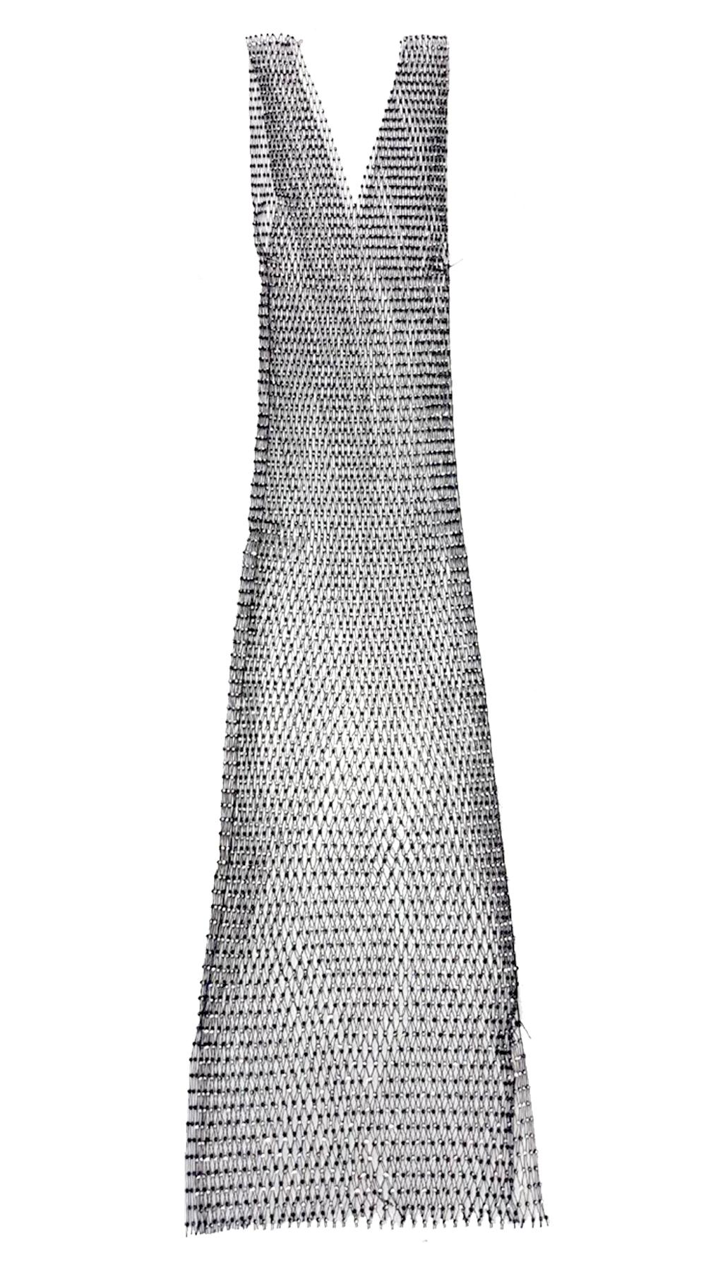d8096bf00b41 Διχτυωτό Φόρεμα-Καφτάνι με V   στρας