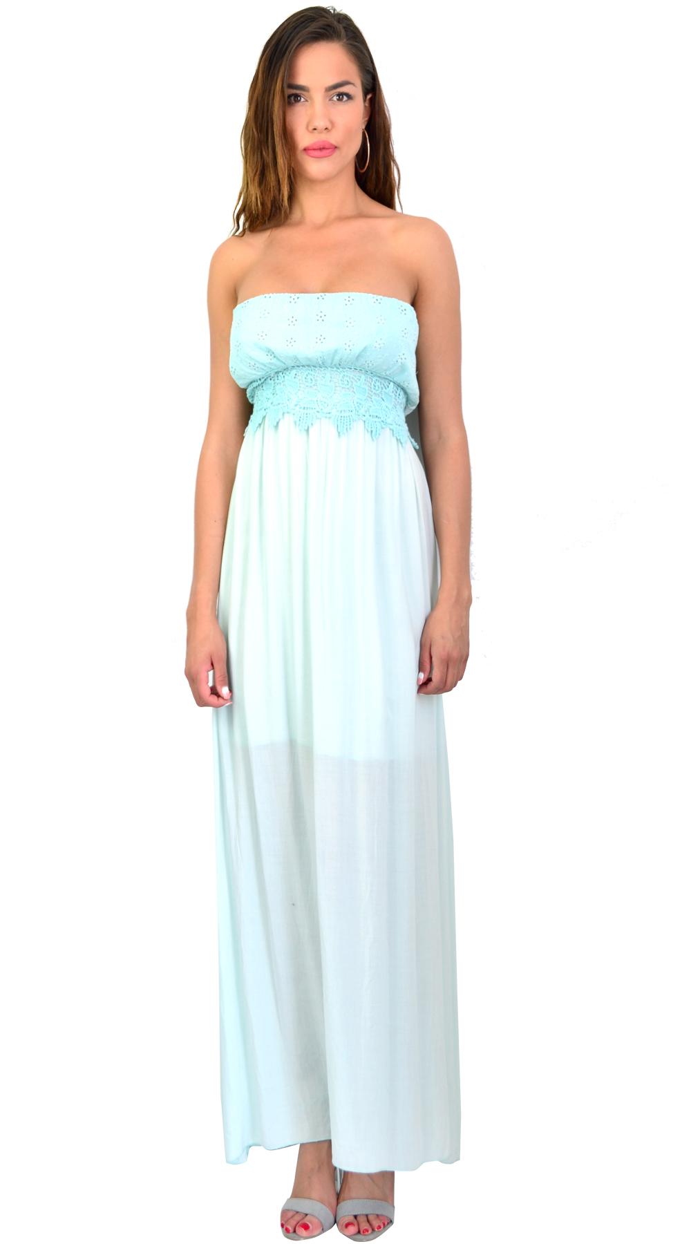 Στράπλες Μάξι Έθνικ Φόρεμα - OEM - SS16-MSR012016 φορέματα μάξι φορέματα