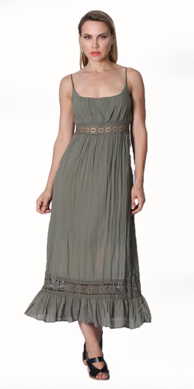 Μάξι Έθνικ Φόρεμα με τιράντες - OEM - SS16-MSR2016CHK φορέματα μάξι φορέματα