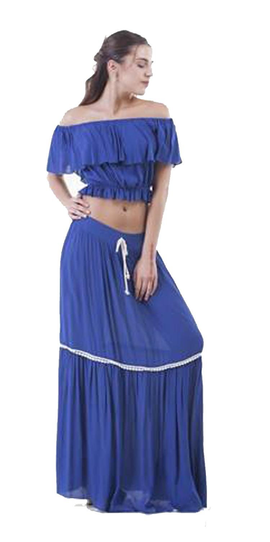 Σετ Τοπ και Φούστα Ethnic Style - OEM - S16CM-3033 φορέματα party φορέματα